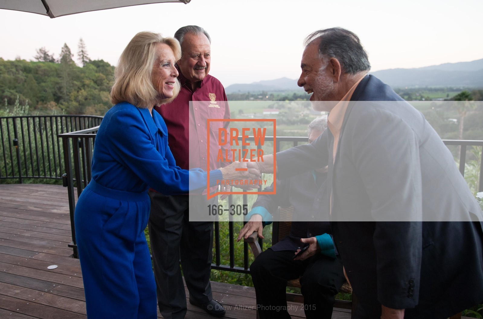 Bobbie Kapcsandy, Lou Kapcsandy, Francis Ford Coppola, LE PAN Napa Valley Launch Cocktail Party, Auberge dr Soliel, September 22nd, 2015,Drew Altizer, Drew Altizer Photography, full-service event agency, private events, San Francisco photographer, photographer California