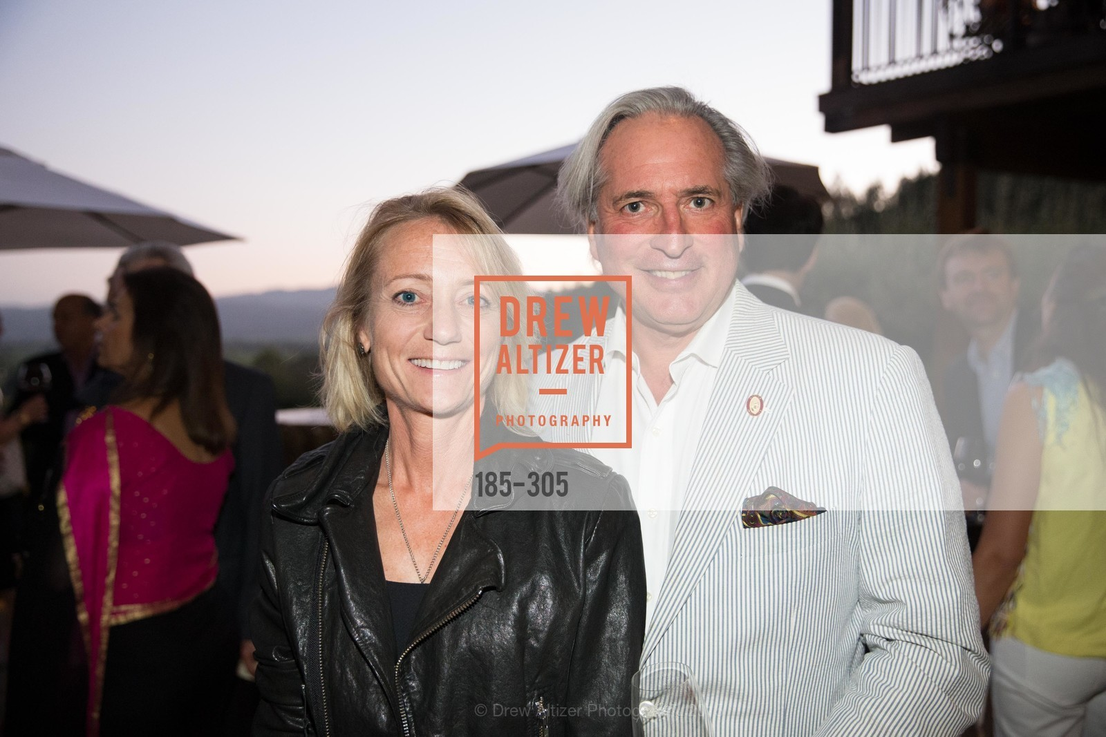 Martha McClellan, Gilles De Chambure, LE PAN Napa Valley Launch Cocktail Party, Auberge dr Soliel, September 22nd, 2015,Drew Altizer, Drew Altizer Photography, full-service agency, private events, San Francisco photographer, photographer california