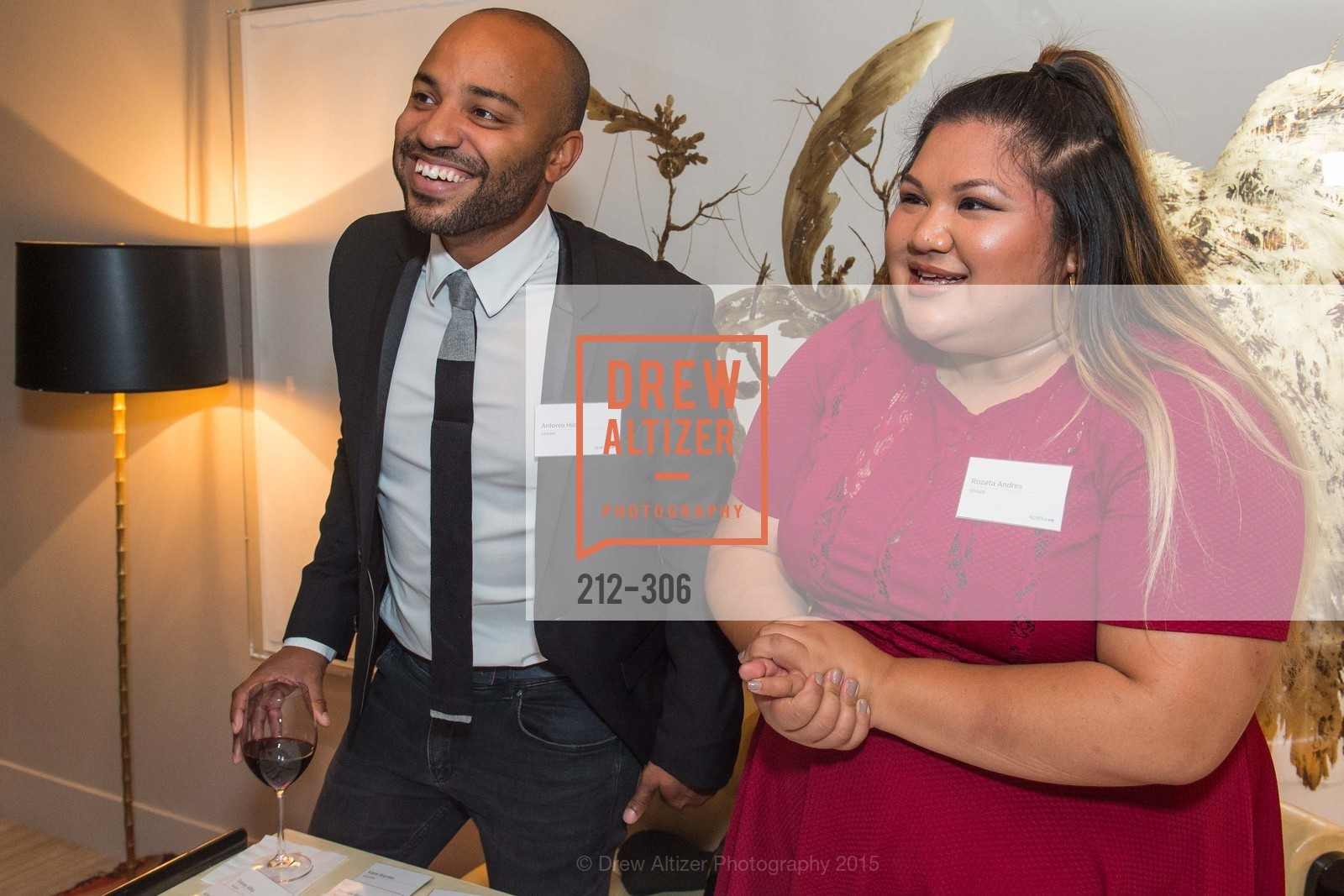 Antonio Hicks, Rozeta Andres, Sparkpr's Annual Rooftop Soirée, The Battery Penthouse, September 22nd, 2015,Drew Altizer, Drew Altizer Photography, full-service agency, private events, San Francisco photographer, photographer california