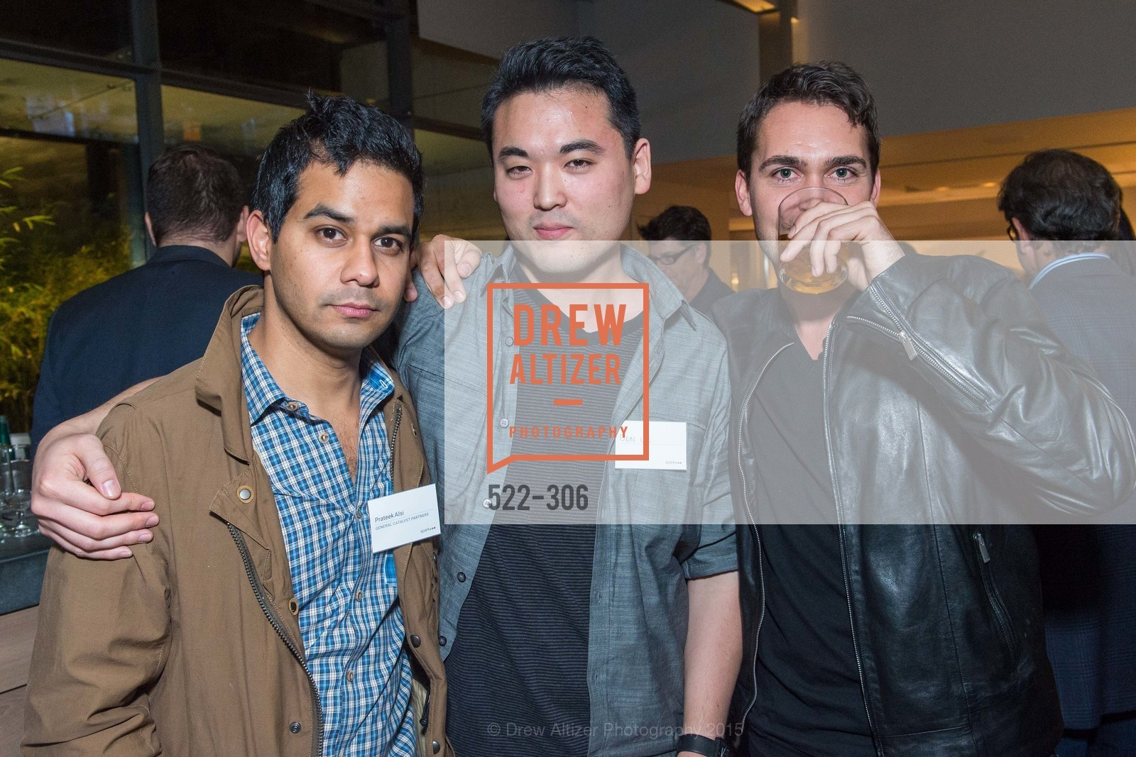 Prateek Alsi, Ben Lee, David Byttow, Sparkpr's Annual Rooftop Soirée, The Battery Penthouse, September 22nd, 2015,Drew Altizer, Drew Altizer Photography, full-service agency, private events, San Francisco photographer, photographer california