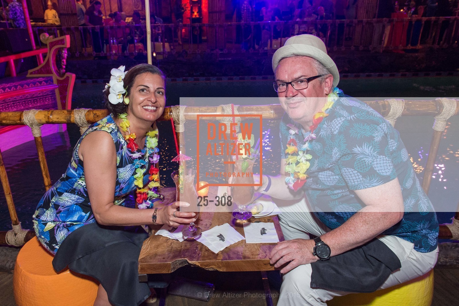 Emma Howell, Paul Howell, Tonga Room & Hurricane Bar Celebrates 70 Years of Tiki Glory, Fairmont, September 23rd, 2015,Drew Altizer, Drew Altizer Photography, full-service event agency, private events, San Francisco photographer, photographer California
