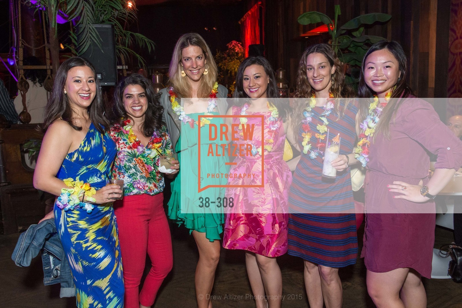 Melissa Farrar, Mary Kerriman, Kendra Jorgensen, Sheila Farrar, Brie Drever, Tiffany Mah, Tonga Room & Hurricane Bar Celebrates 70 Years of Tiki Glory, Fairmont, September 23rd, 2015,Drew Altizer, Drew Altizer Photography, full-service agency, private events, San Francisco photographer, photographer california