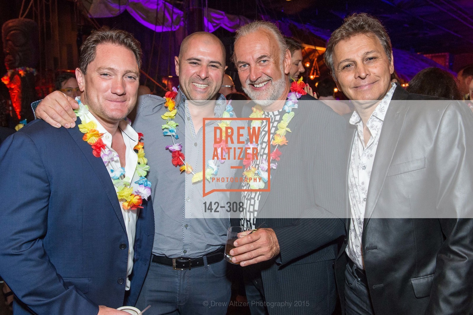 Liam Mayclem, Hubert Keller, Walip Mando, Tonga Room & Hurricane Bar Celebrates 70 Years of Tiki Glory, Fairmont, September 23rd, 2015,Drew Altizer, Drew Altizer Photography, full-service agency, private events, San Francisco photographer, photographer california