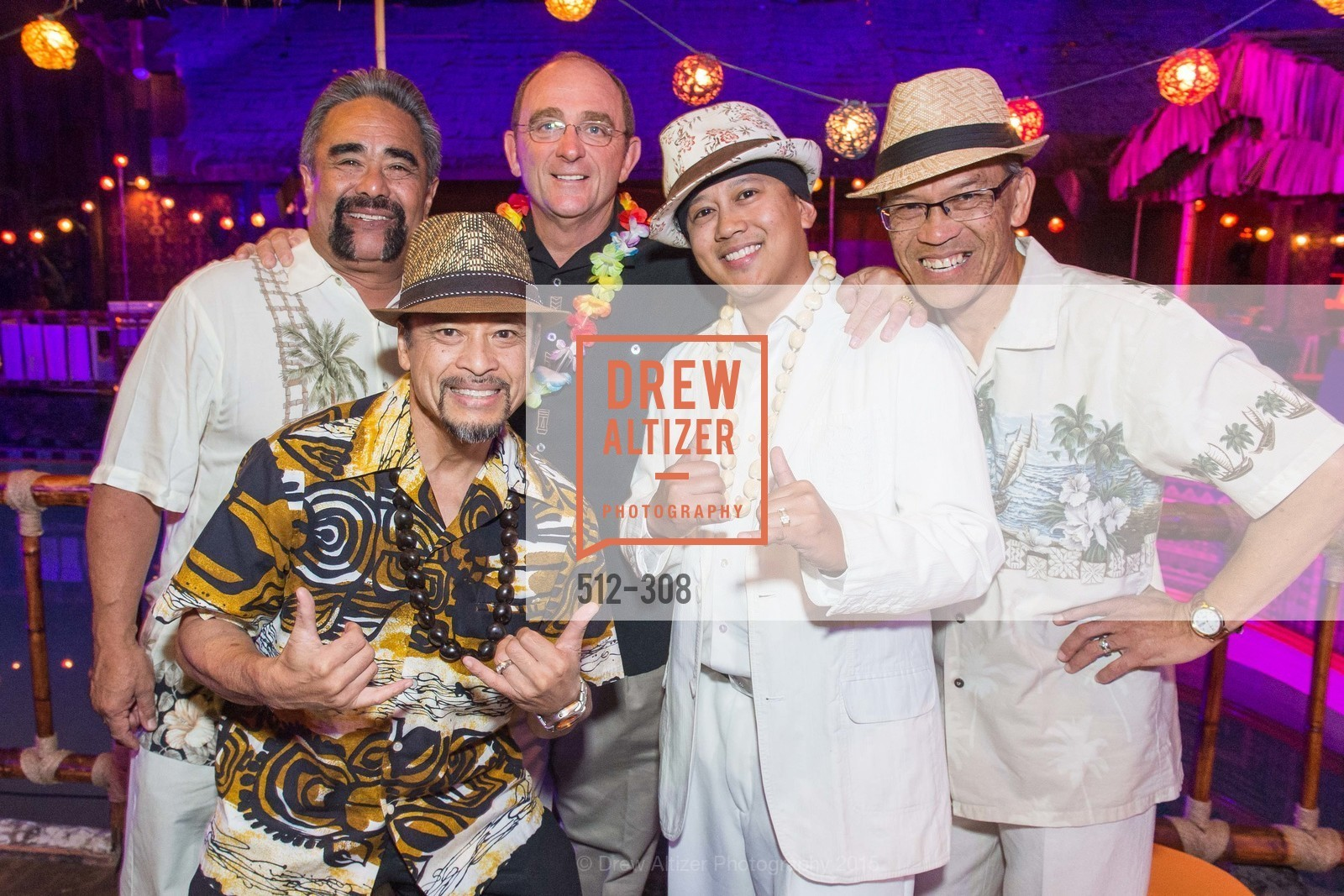 Vito Medina, Alan Revelo, Tom Klein, CJ Simbre, Dean Revelo, Tonga Room & Hurricane Bar Celebrates 70 Years of Tiki Glory, Fairmont, September 23rd, 2015,Drew Altizer, Drew Altizer Photography, full-service agency, private events, San Francisco photographer, photographer california