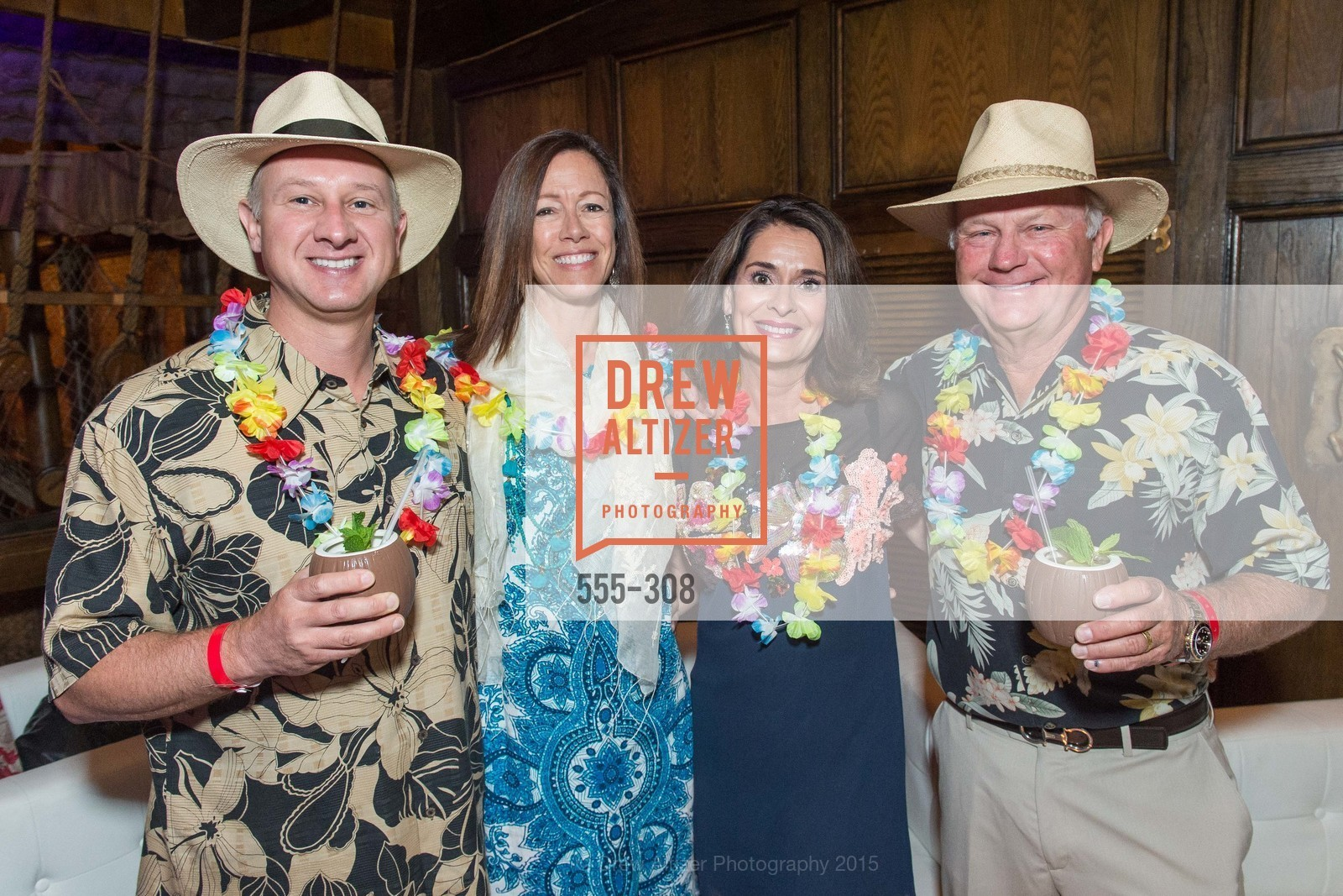 Marty Cepkauskas, Allison Mortimer, Debbie Saunders, Jim Saunders, Tonga Room & Hurricane Bar Celebrates 70 Years of Tiki Glory, Fairmont, September 23rd, 2015,Drew Altizer, Drew Altizer Photography, full-service agency, private events, San Francisco photographer, photographer california