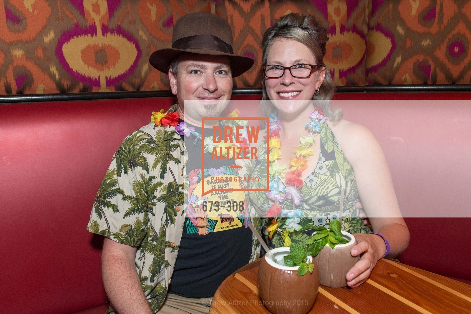 Joshua Bell, Susan Bell, Tonga Room & Hurricane Bar Celebrates 70 Years of Tiki Glory, Fairmont, September 23rd, 2015,Drew Altizer, Drew Altizer Photography, full-service agency, private events, San Francisco photographer, photographer california