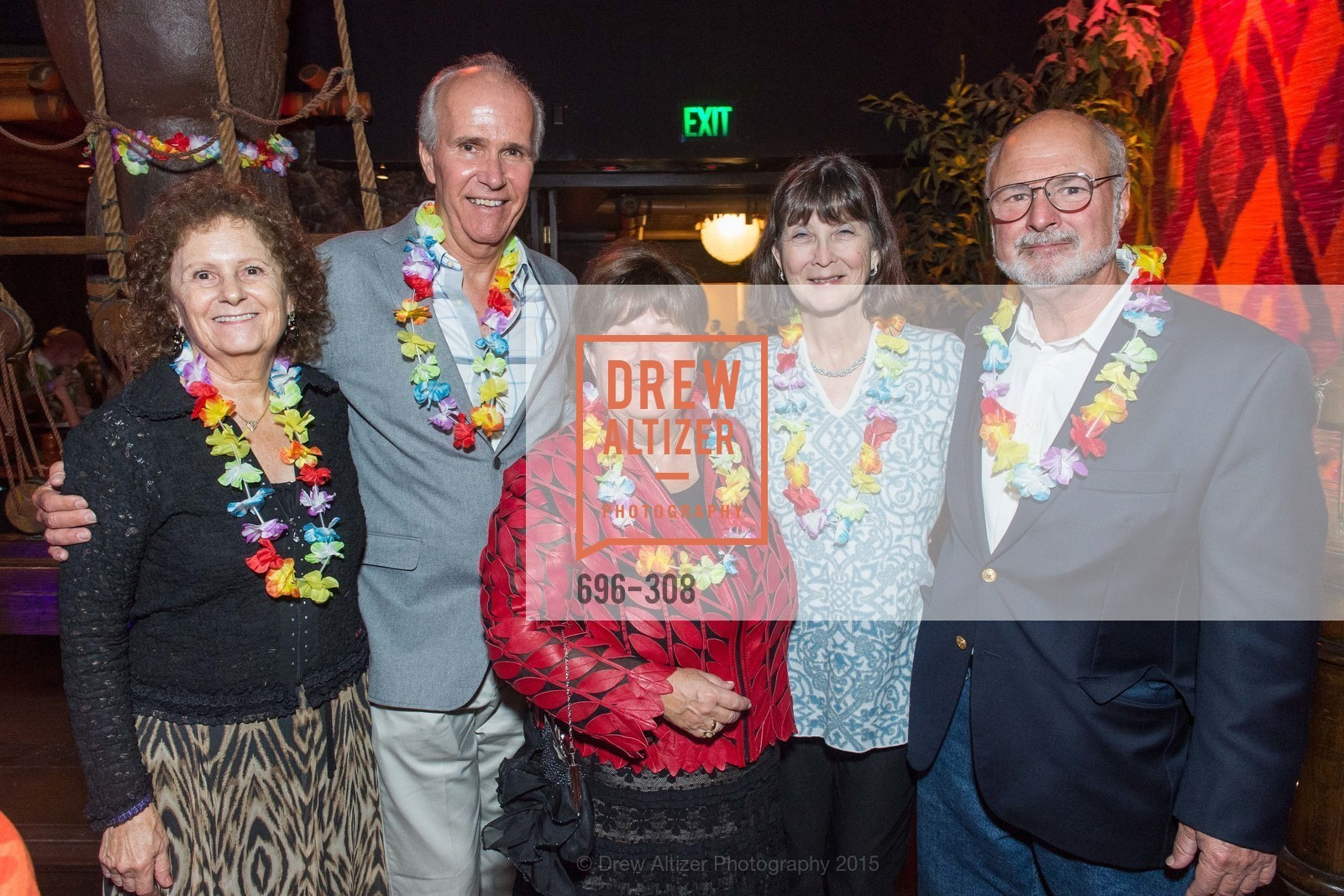 Marta Myers, Paul Myers, Janet Banks, MaryAnn Geary, Marty Geary, Tonga Room & Hurricane Bar Celebrates 70 Years of Tiki Glory, Fairmont, September 23rd, 2015,Drew Altizer, Drew Altizer Photography, full-service agency, private events, San Francisco photographer, photographer california
