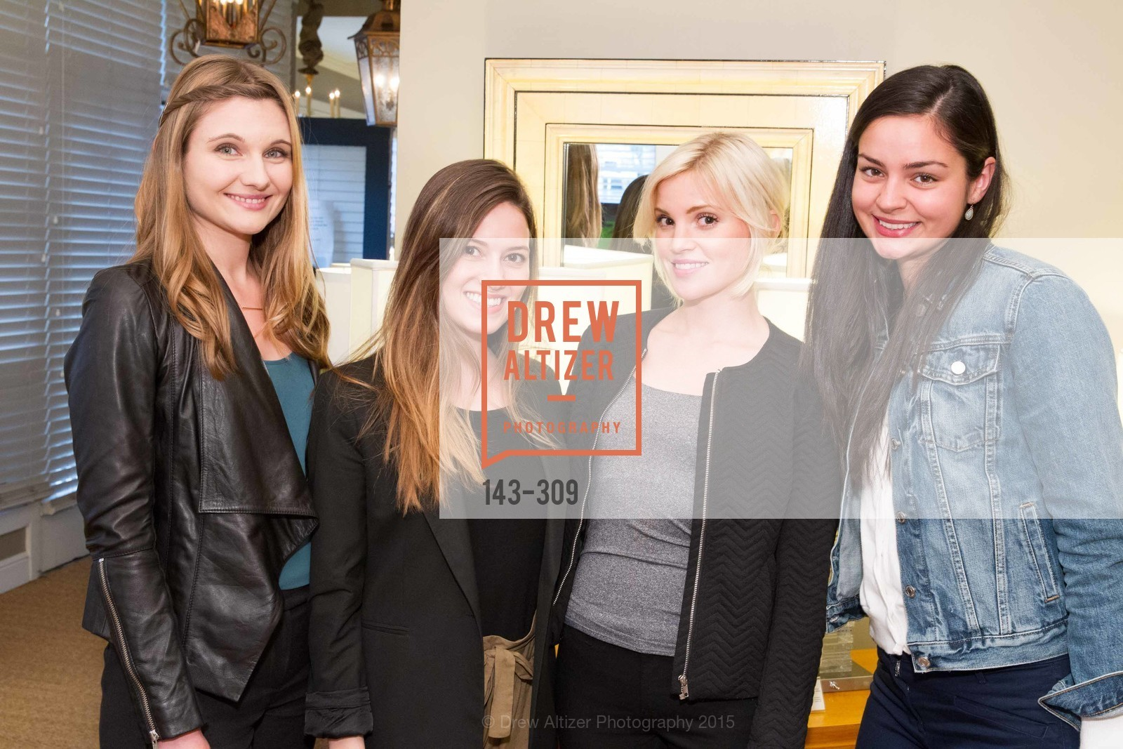 Laura Arns, Michaela Line, Becca Nadiaux, Maya Ratajcezak, The San Francisco Fall Antiques Show Designer's Circle cocktail party hosted by epoca, Epoca, September 23rd, 2015,Drew Altizer, Drew Altizer Photography, full-service agency, private events, San Francisco photographer, photographer california