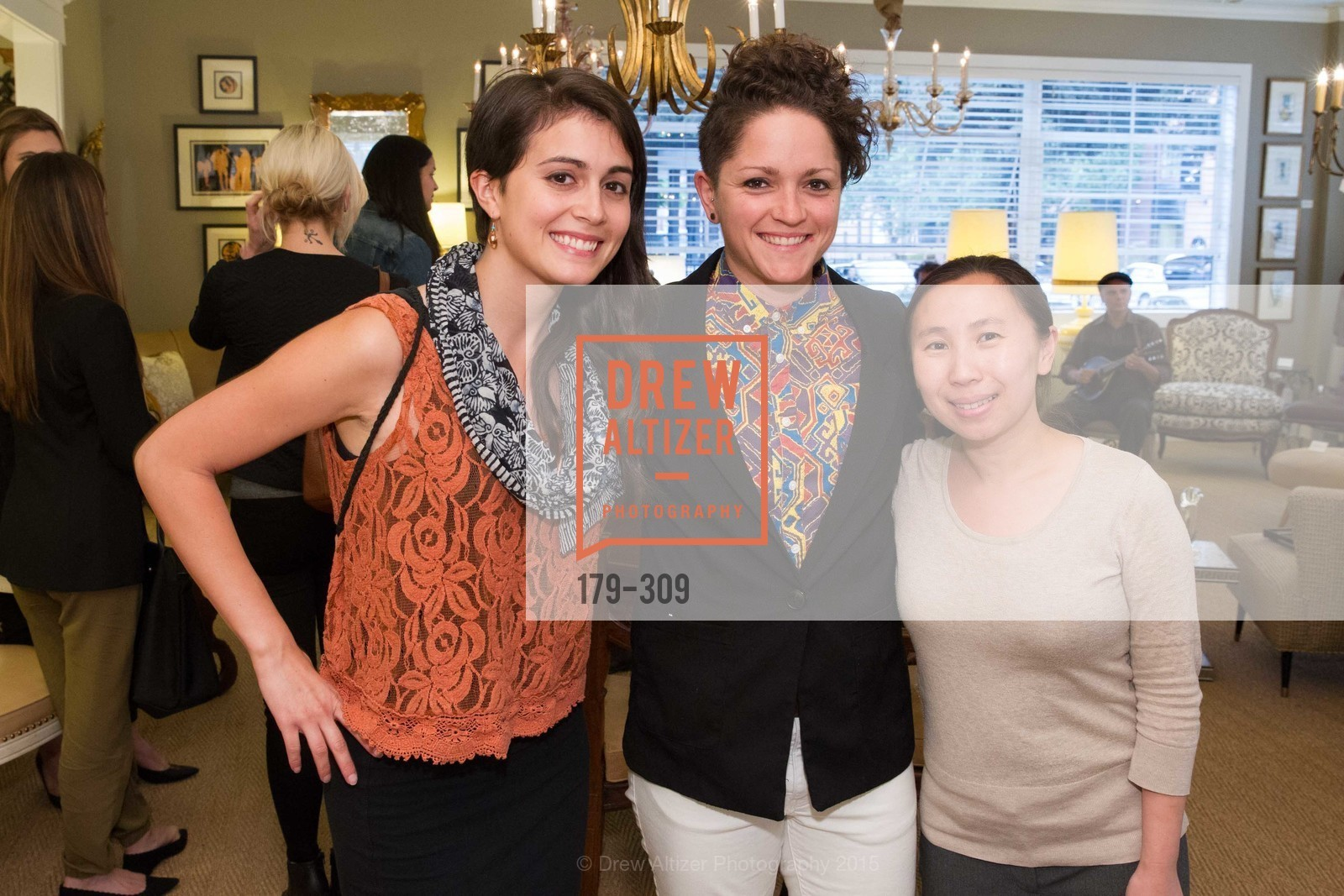 Lauren Thomas, Carly Fernandez, Minh Duong, The San Francisco Fall Antiques Show Designer's Circle cocktail party hosted by epoca, Epoca, September 23rd, 2015,Drew Altizer, Drew Altizer Photography, full-service agency, private events, San Francisco photographer, photographer california