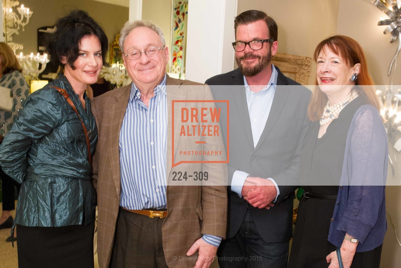 Katherine Jacobus, Stephen Suzman, Philip Bewley, Kendra Boutell, The San Francisco Fall Antiques Show Designer's Circle cocktail party hosted by epoca, Epoca, September 23rd, 2015,Drew Altizer, Drew Altizer Photography, full-service agency, private events, San Francisco photographer, photographer california