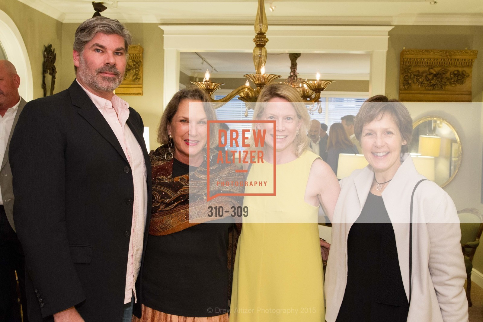 Matthew MacCaul Turner, Cornelia Deschepper, Ariane Tremuschat, Jennifer Miller, The San Francisco Fall Antiques Show Designer's Circle cocktail party hosted by epoca, Epoca, September 23rd, 2015,Drew Altizer, Drew Altizer Photography, full-service agency, private events, San Francisco photographer, photographer california