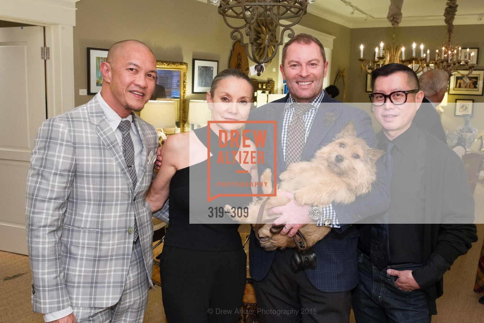 Troy Anicete, Carol Ann Werner, Thierry Buisson, James Fong, The San Francisco Fall Antiques Show Designer's Circle cocktail party hosted by epoca, Epoca, September 23rd, 2015,Drew Altizer, Drew Altizer Photography, full-service agency, private events, San Francisco photographer, photographer california