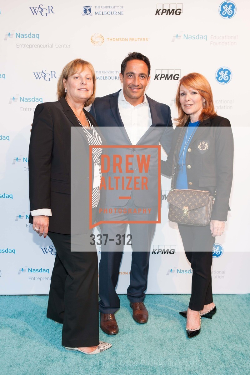 Janice Burg-Levi, Salvatore Melilli, Susie Nascot, Nasdaq 25th Anniversary, Foundry III. 505 Howard Street, September 24th, 2015,Drew Altizer, Drew Altizer Photography, full-service event agency, private events, San Francisco photographer, photographer California