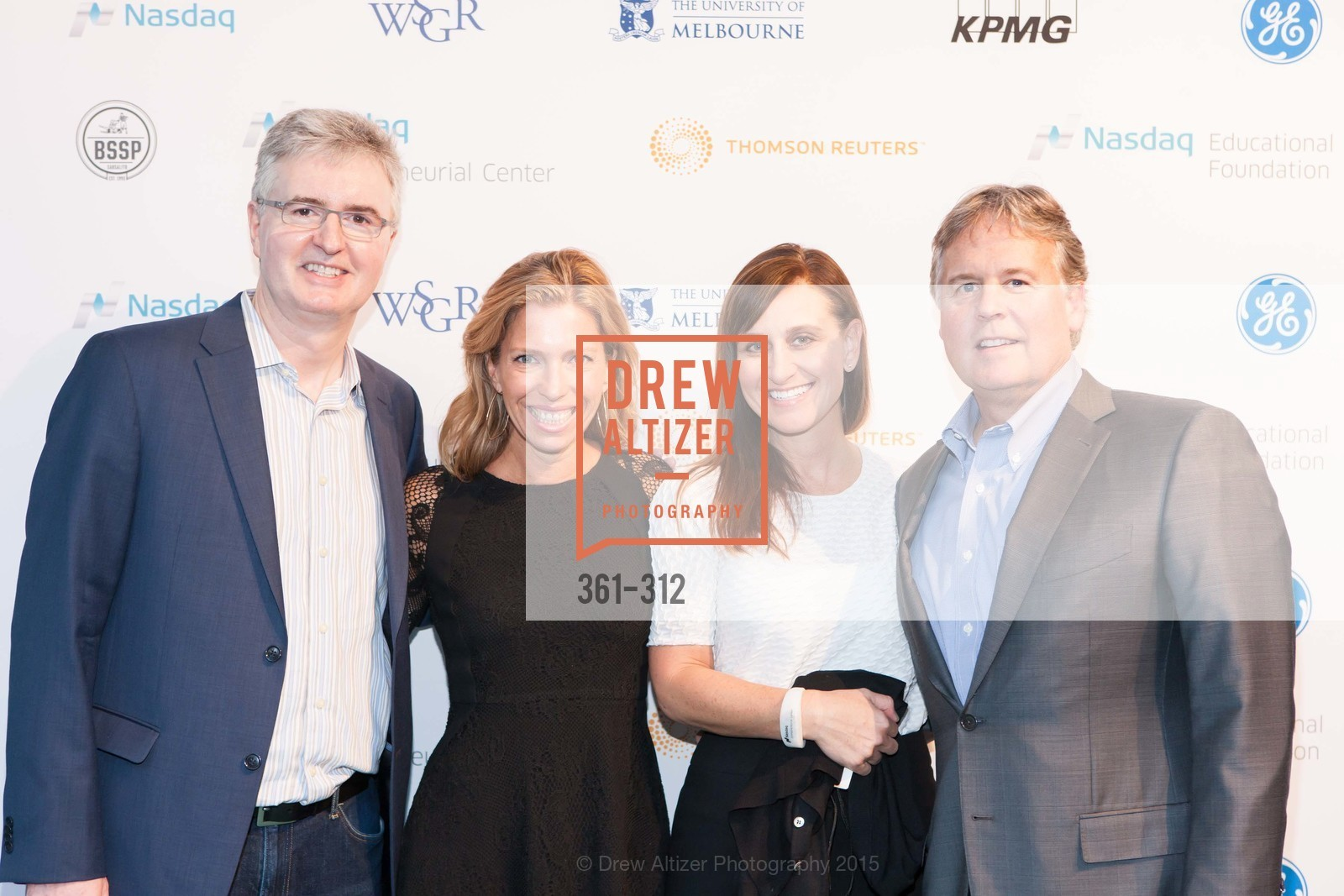 Brad Peterson, Christine Aylward, Stacy Demico, Declan Mars, Nasdaq 25th Anniversary, Foundry III. 505 Howard Street, September 24th, 2015,Drew Altizer, Drew Altizer Photography, full-service event agency, private events, San Francisco photographer, photographer California