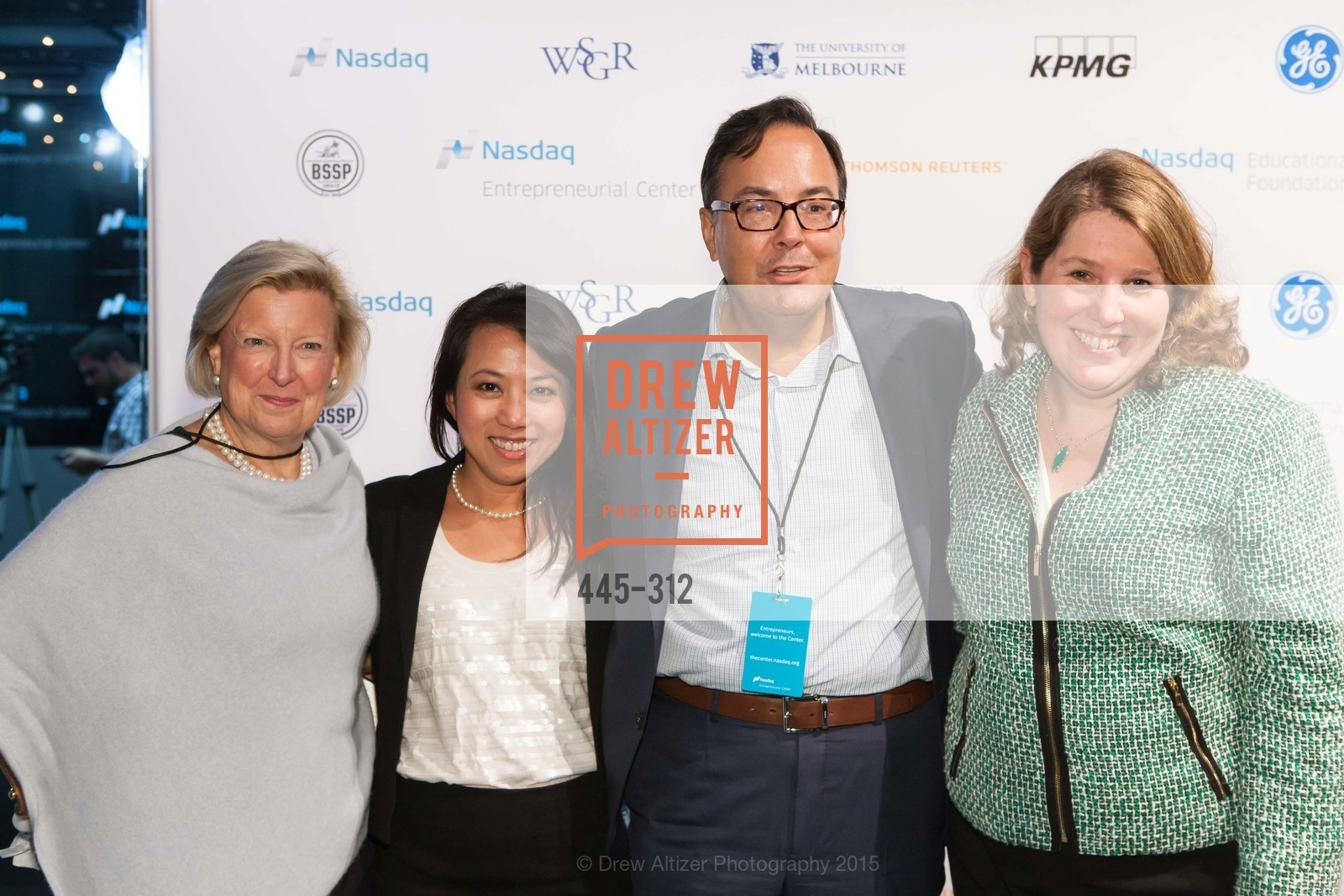 Joan Connelly, Cindy Rodriguez, Ed Knight, Anne Marie Gurney, Nasdaq 25th Anniversary, Foundry III. 505 Howard Street, September 24th, 2015,Drew Altizer, Drew Altizer Photography, full-service agency, private events, San Francisco photographer, photographer california