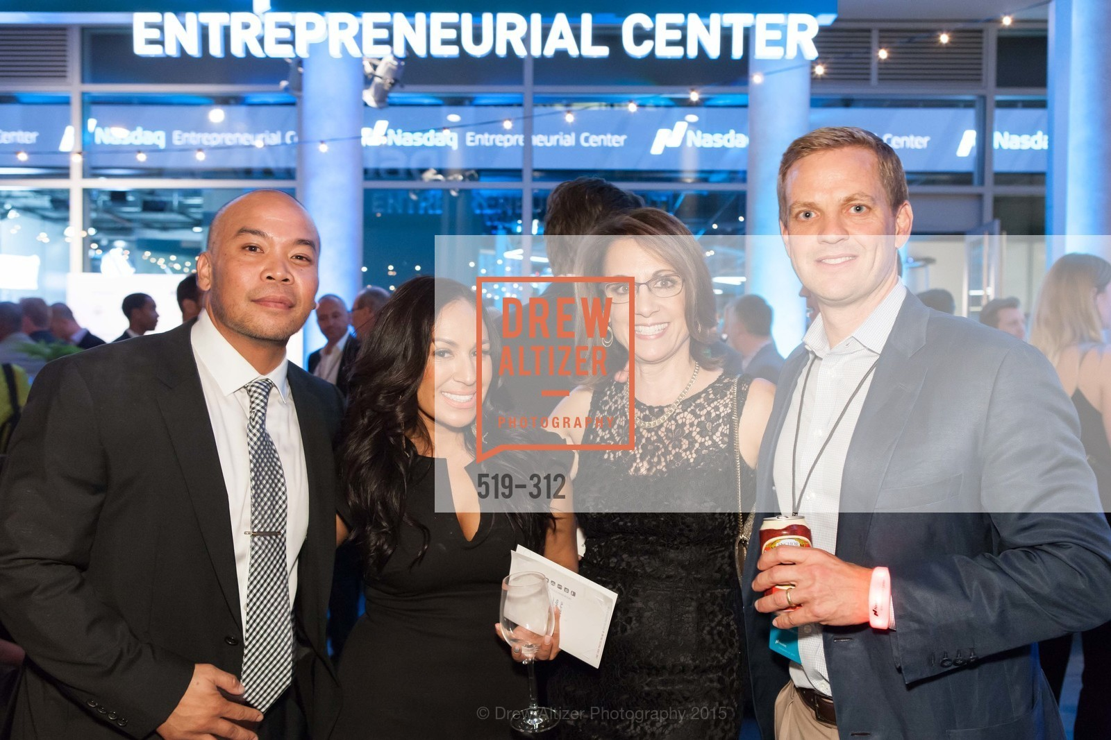 Brian Castillo, Evelyn Burgos, Marianne Balzrich, Nelson Griggs, Nasdaq 25th Anniversary, Foundry III. 505 Howard Street, September 24th, 2015,Drew Altizer, Drew Altizer Photography, full-service agency, private events, San Francisco photographer, photographer california