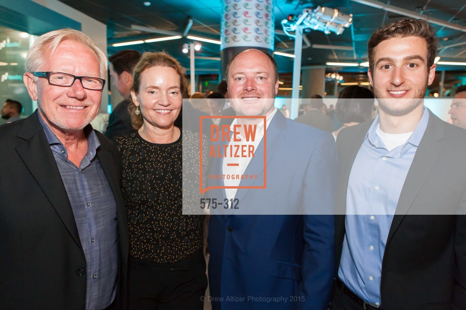 Tom Caylor, Kim Colese, Terry Howerton, Brendan Karp, Nasdaq 25th Anniversary, Foundry III. 505 Howard Street, September 24th, 2015,Drew Altizer, Drew Altizer Photography, full-service agency, private events, San Francisco photographer, photographer california