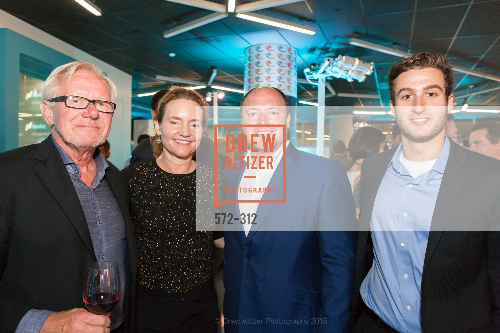 Tom Caylor, Kim Colese, Terry Howerton, Brendan Karp, Nasdaq 25th Anniversary, Foundry III. 505 Howard Street, September 24th, 2015