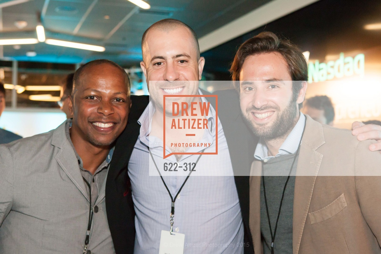 Sean Saunders, Joseph Santis, Luigi Congedo, Nasdaq 25th Anniversary, Foundry III. 505 Howard Street, September 24th, 2015,Drew Altizer, Drew Altizer Photography, full-service agency, private events, San Francisco photographer, photographer california