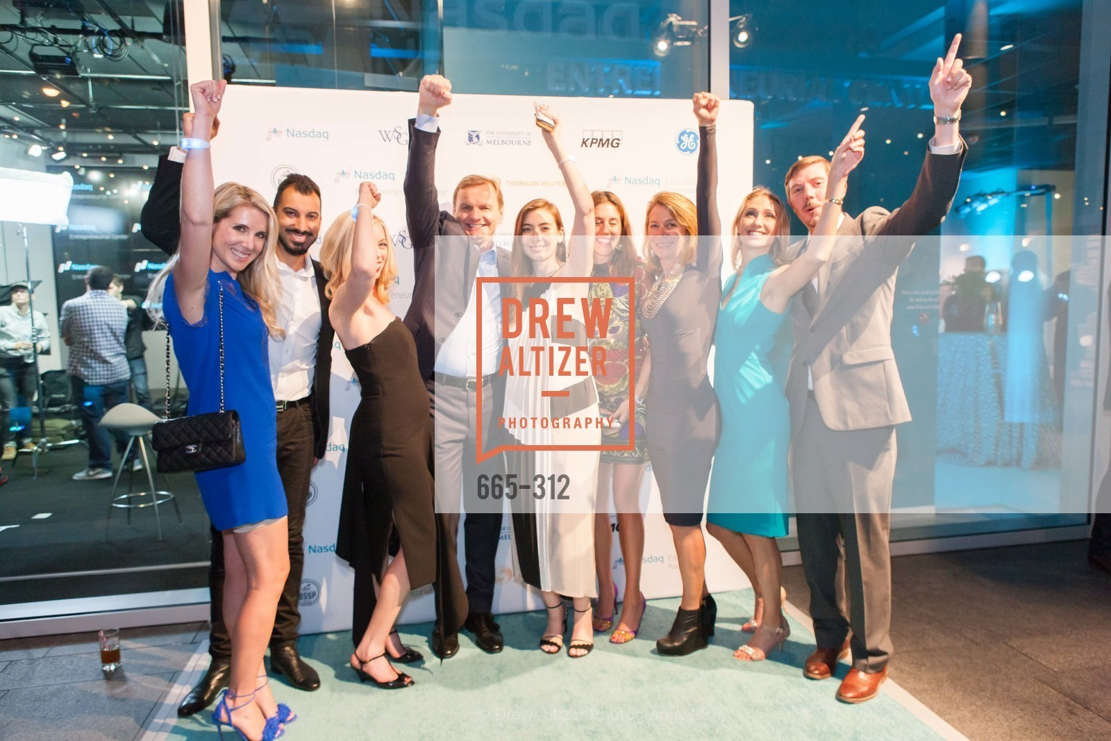 Samantha Hartwell, Mitch Haya, Nicole Torzine, Bruce Aust, Cristina Tramutola, Navi Haya, Alana Yana, Colin Mahen, Nasdaq 25th Anniversary, Foundry III. 505 Howard Street, September 24th, 2015,Drew Altizer, Drew Altizer Photography, full-service agency, private events, San Francisco photographer, photographer california