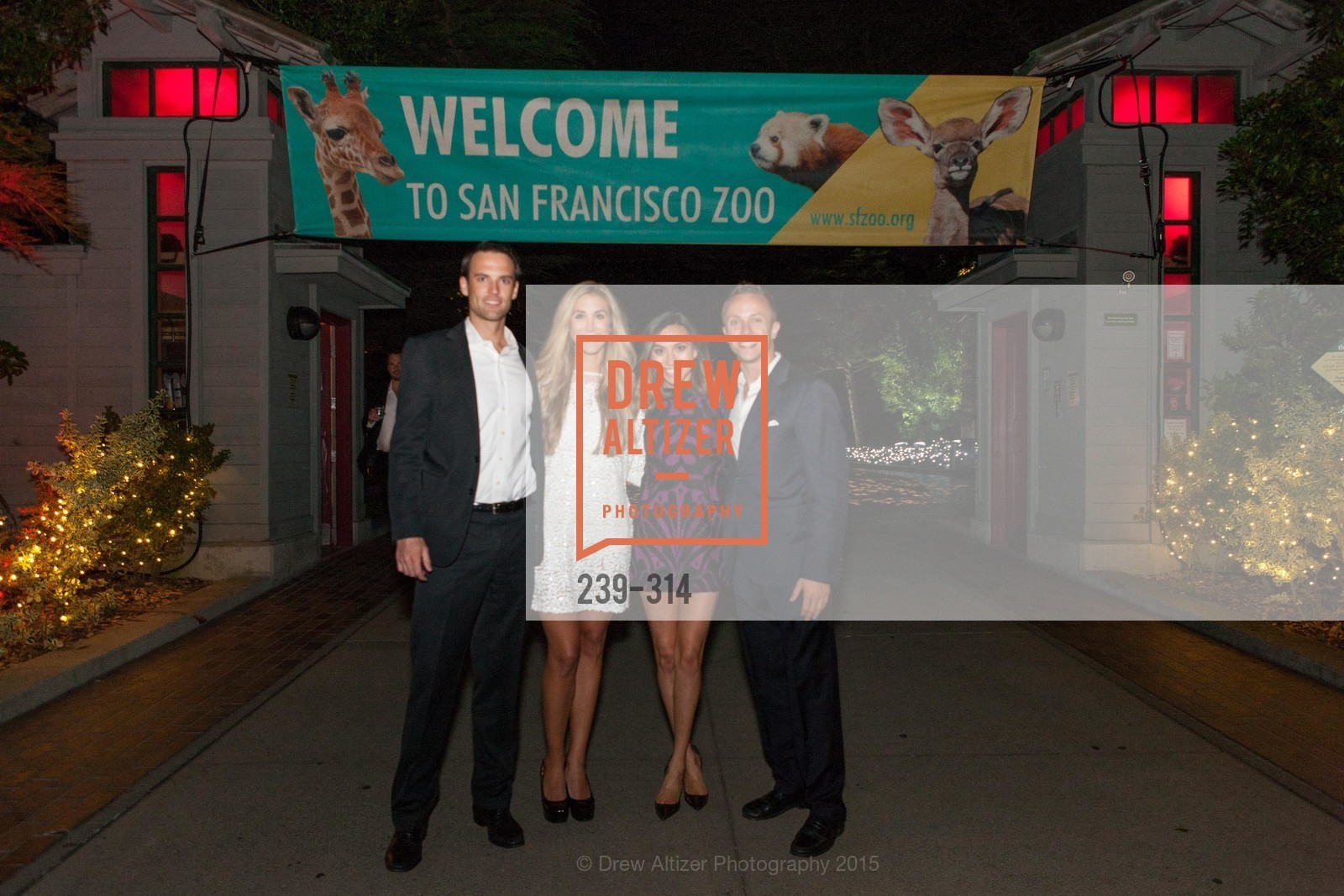Scott Snow, Chelsea Wilson, Sara Baldoni, Gareth Hornberger, San Francisco Zoo Fur Ball, San Francisco Zoo, September 25th, 2015,Drew Altizer, Drew Altizer Photography, full-service agency, private events, San Francisco photographer, photographer california