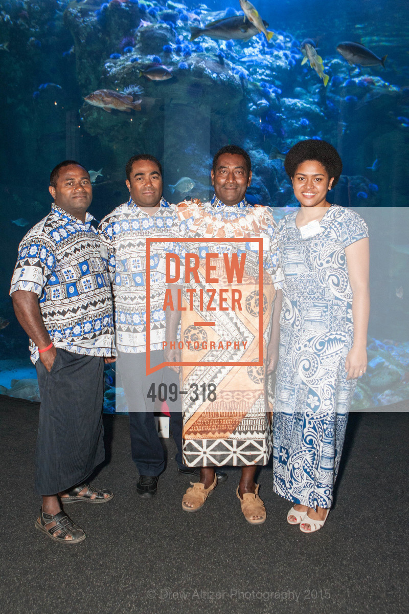Didi Dulunaqio, Sevuloni Baleinakorodawa, Paulo Kolikata, Alisi Rabukawaqa, Coral Reef Alliance at the California Academy of Sciences, Academy of Sciences, September 26th, 2015