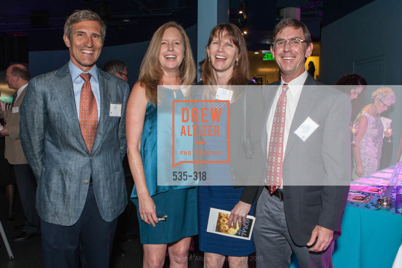 Dave Stanton, Susan Dunn, Karen Dunn, Dan Dunn, Coral Reef Alliance at the California Academy of Sciences, Academy of Sciences, September 26th, 2015,Drew Altizer, Drew Altizer Photography, full-service agency, private events, San Francisco photographer, photographer california