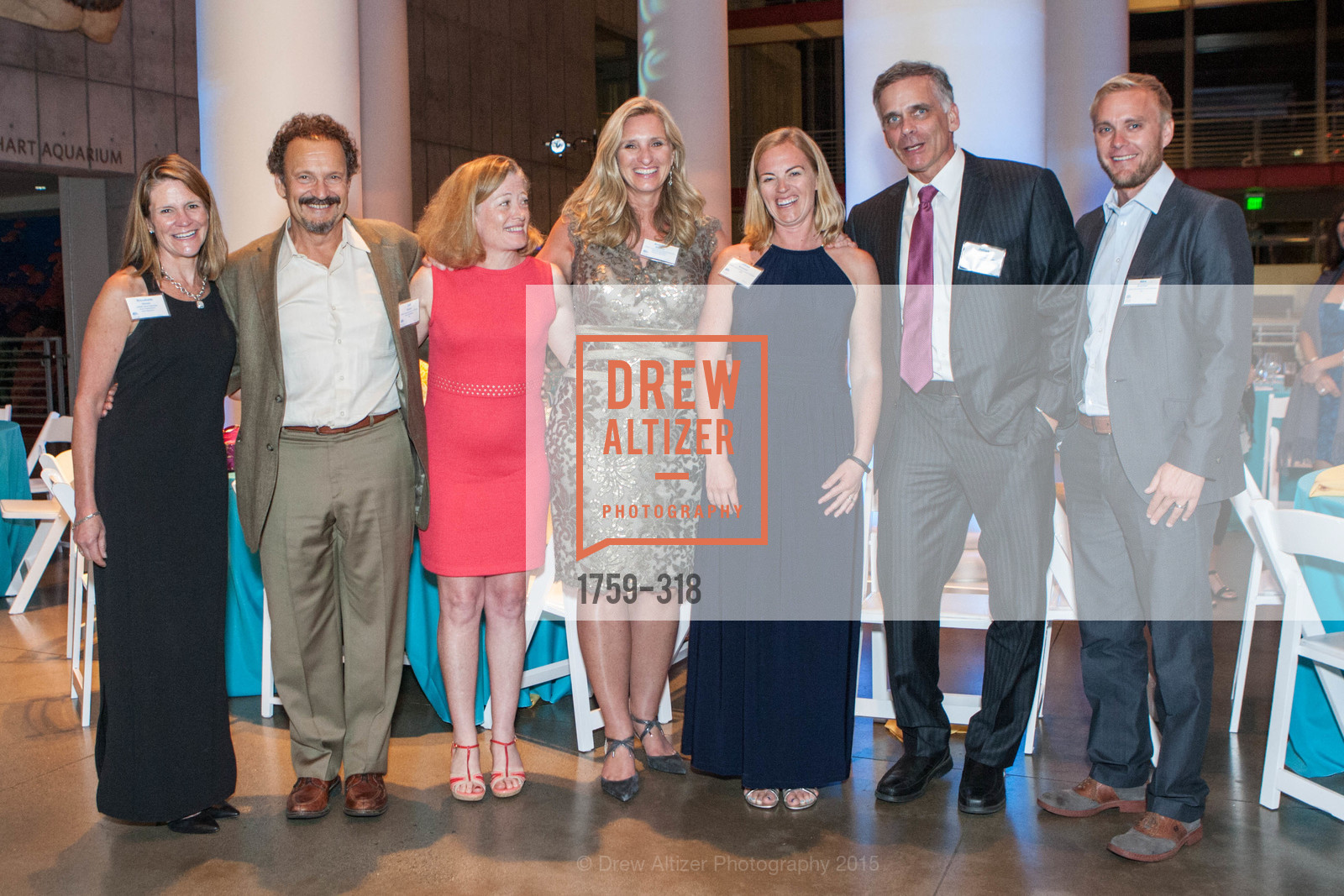 Elizabeth Ulmer, Jeff Chanin, Miriam Hicer, Kristine Billeter, Jill Kreston, Julian Osinski, Alex Kreston, Coral Reef Alliance at the California Academy of Sciences, Academy of Sciences, September 26th, 2015,Drew Altizer, Drew Altizer Photography, full-service agency, private events, San Francisco photographer, photographer california