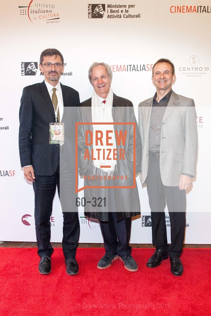 Paolo Barlera, Lino Capolicchio, Mauro Battocchi, Vittorio De Sica- A film series, The Castro Theater. 429 Castro Street, September 26th, 2015,Drew Altizer, Drew Altizer Photography, full-service agency, private events, San Francisco photographer, photographer california