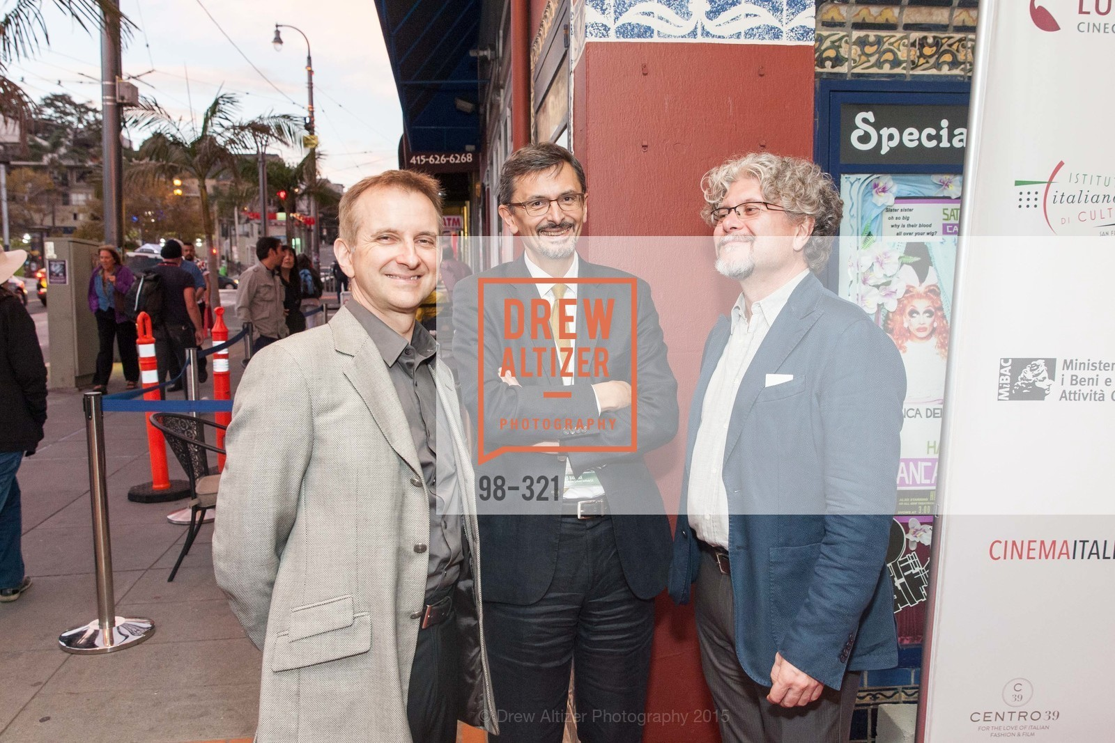 Mauro Battocchi, Paolo Barlera, Francisco Espanolo, Vittorio De Sica- A film series, The Castro Theater. 429 Castro Street, September 26th, 2015,Drew Altizer, Drew Altizer Photography, full-service agency, private events, San Francisco photographer, photographer california
