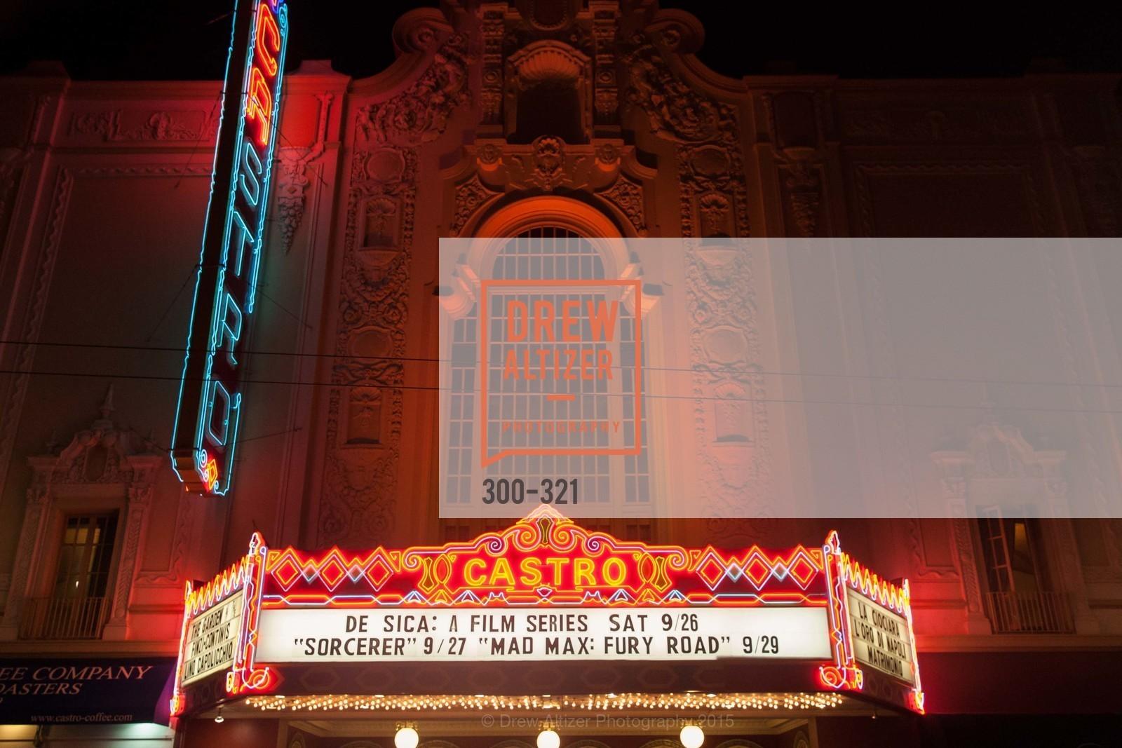 Atmosphere, Vittorio De Sica- A film series, The Castro Theater. 429 Castro Street, September 26th, 2015,Drew Altizer, Drew Altizer Photography, full-service event agency, private events, San Francisco photographer, photographer California
