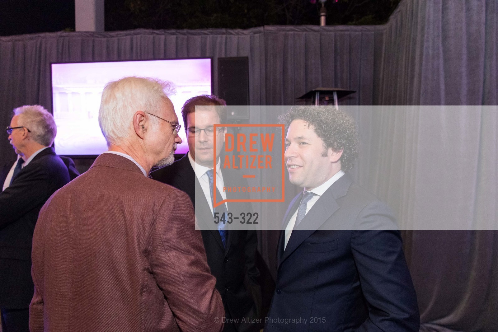 John Adams, Matias Tarnopolsky, Gustavo Dudamel, Gala at The Greek Benefiting Cal Performances, UC Berkeley's Greek Theatre. 2001 Gayley Rd, September 25th, 2015,Drew Altizer, Drew Altizer Photography, full-service agency, private events, San Francisco photographer, photographer california