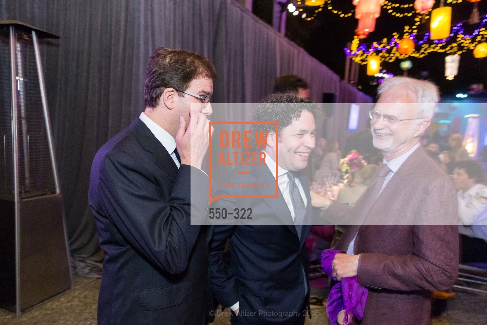 Matias Tarnopolsky, Gustavo Dudamel, John Adams, Gala at The Greek Benefiting Cal Performances, UC Berkeley's Greek Theatre. 2001 Gayley Rd, September 25th, 2015,Drew Altizer, Drew Altizer Photography, full-service agency, private events, San Francisco photographer, photographer california