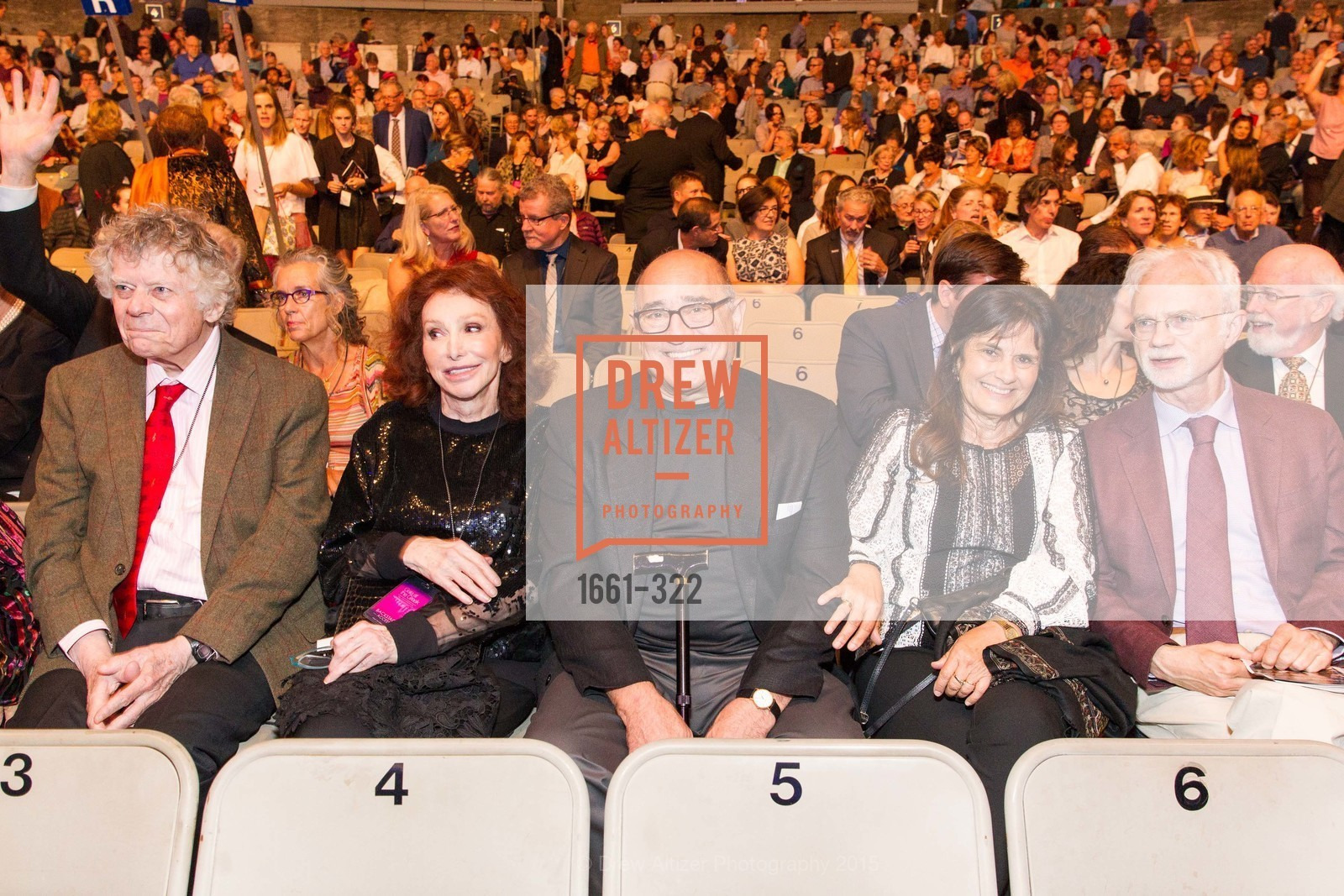 Gordon Getty, Ann Getty, Alex Pines, Ditsa Pines, John Adams, Gala at The Greek Benefiting Cal Performances, UC Berkeley's Greek Theatre. 2001 Gayley Rd, September 25th, 2015,Drew Altizer, Drew Altizer Photography, full-service agency, private events, San Francisco photographer, photographer california