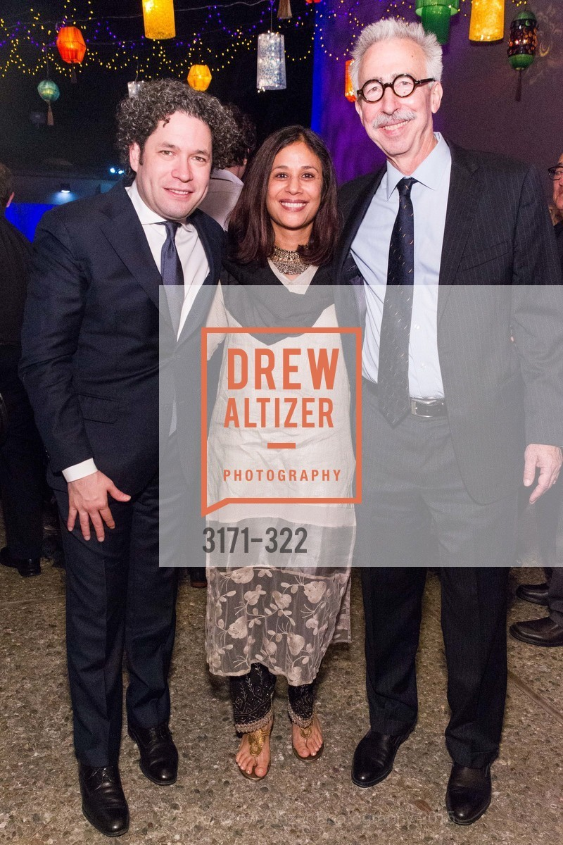 Gustavo Dudamel, Janaki Bakhle, Nicholas Dirks, Gala at The Greek Benefiting Cal Performances, UC Berkeley's Greek Theatre. 2001 Gayley Rd, September 25th, 2015,Drew Altizer, Drew Altizer Photography, full-service agency, private events, San Francisco photographer, photographer california