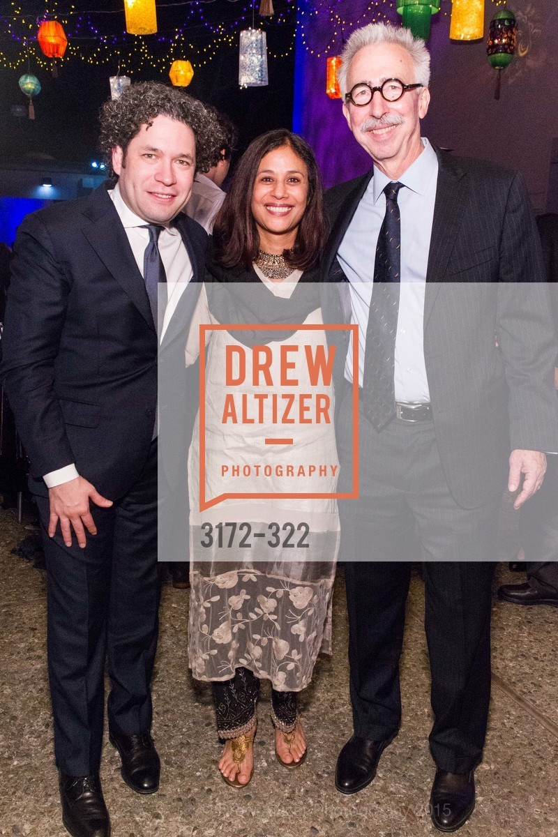 Gustavo Dudamel, Janaki Bakhle, Nicholas Dirks, Gala at The Greek Benefiting Cal Performances, UC Berkeley's Greek Theatre. 2001 Gayley Rd, September 25th, 2015,Drew Altizer, Drew Altizer Photography, full-service event agency, private events, San Francisco photographer, photographer California
