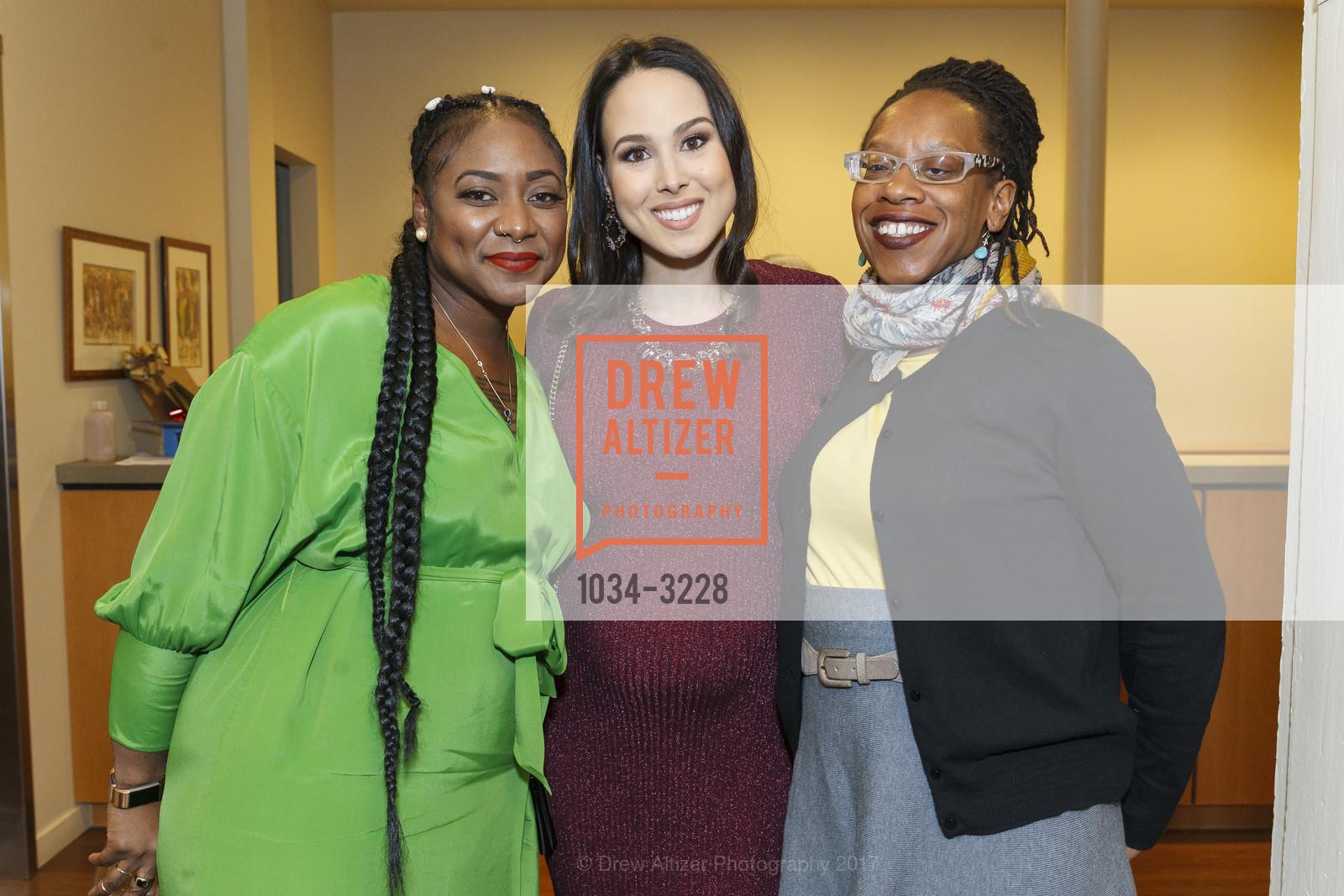 Alicia Garza, Meena Harris, Lateefah Simon, Photo #1034-3228