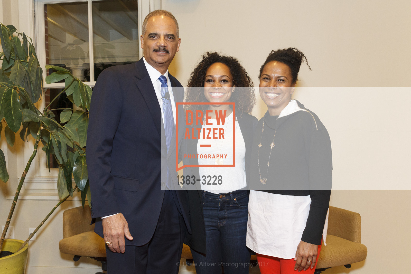 Eric Holder, Monique Dorsainvil, Maxine Williams, Photo #1383-3228