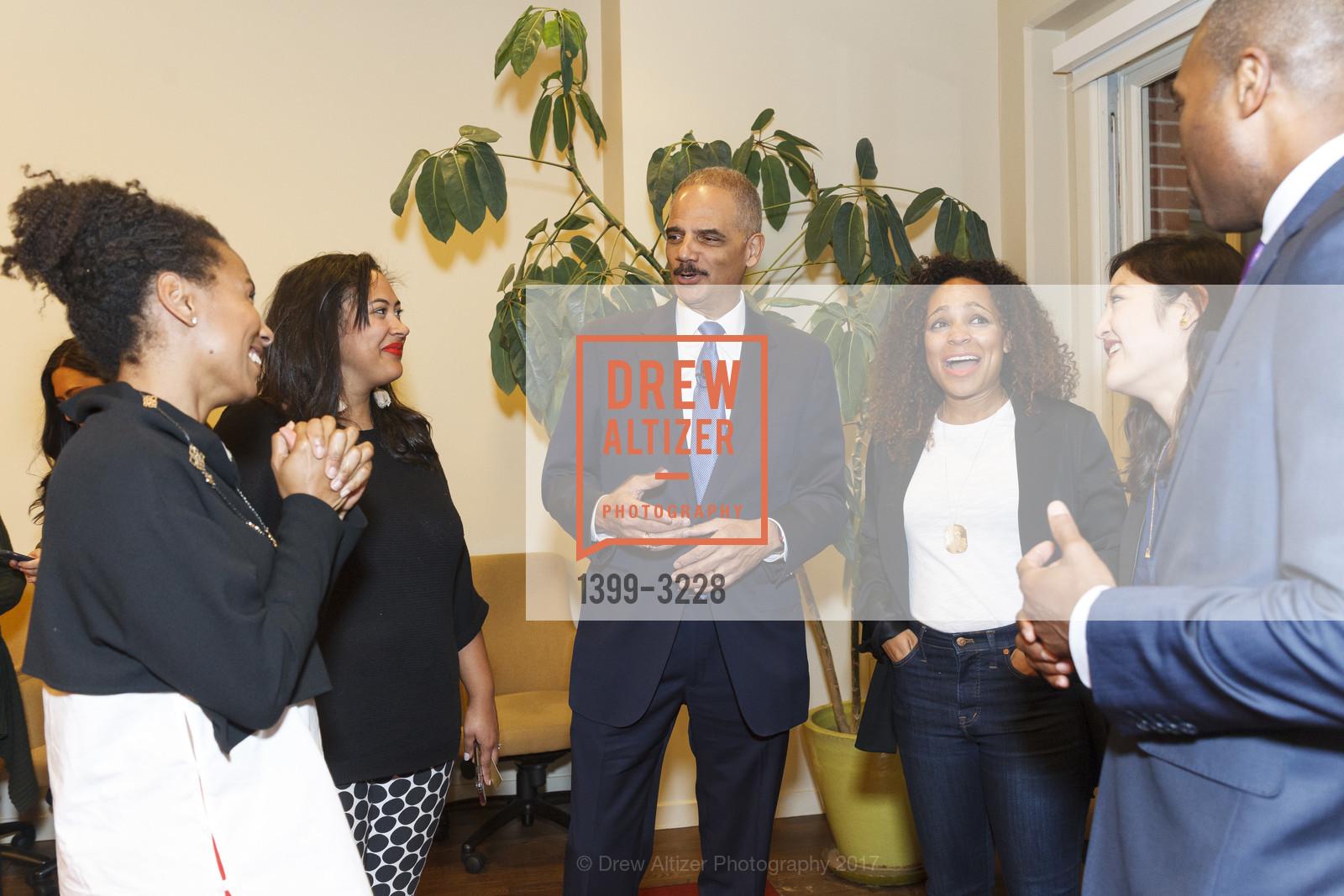 Maxine Williams, Bettie Thompson, Eric Holder, Monique Dorsainvil, Mana Nakagawa, Tony West, Photo #1399-3228