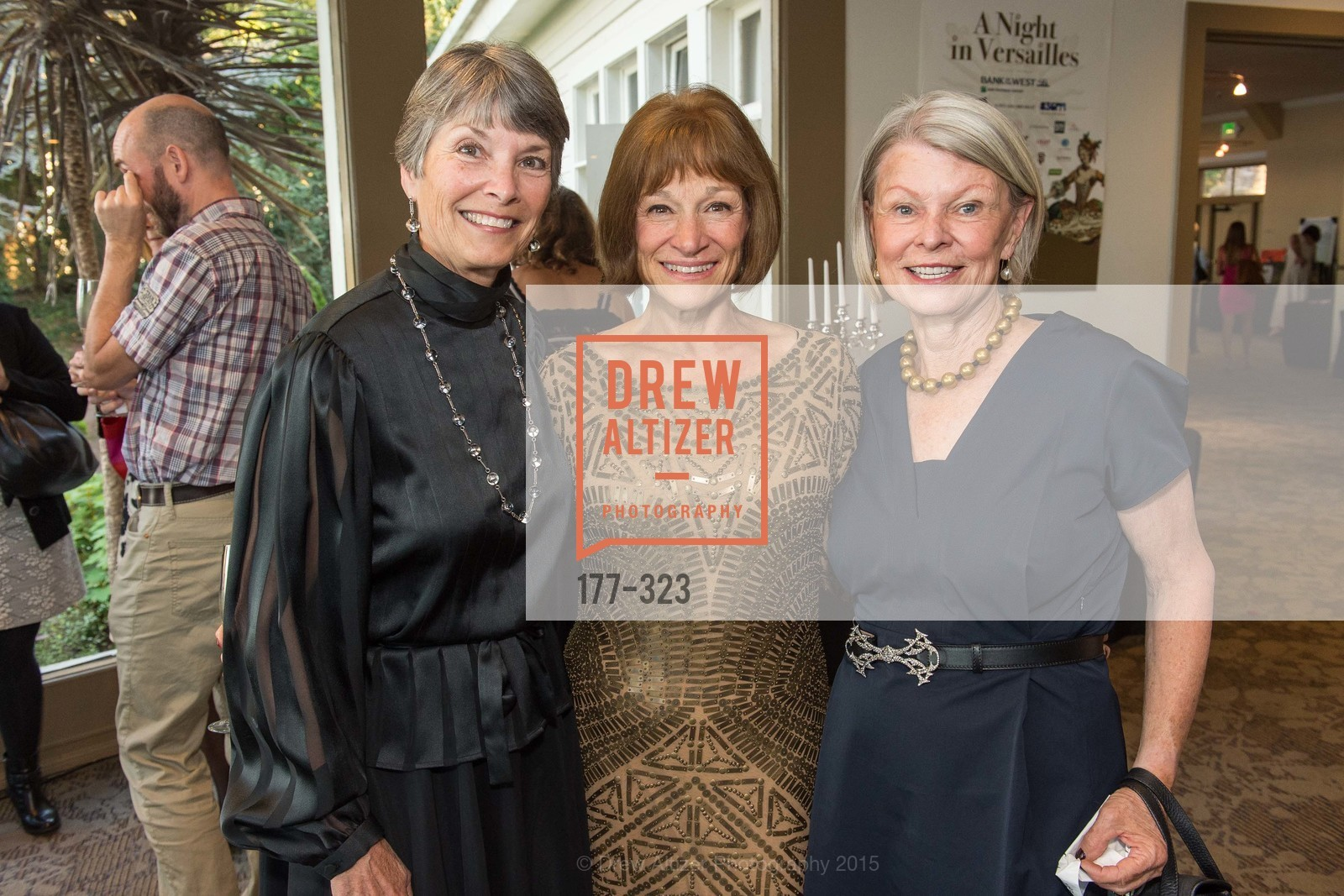 Donna Marie Hayes, Barbara Trenary, Pamela Lemley, A Night in Versailles, General's Residence. 1 Franklin St, September 25th, 2015,Drew Altizer, Drew Altizer Photography, full-service agency, private events, San Francisco photographer, photographer california