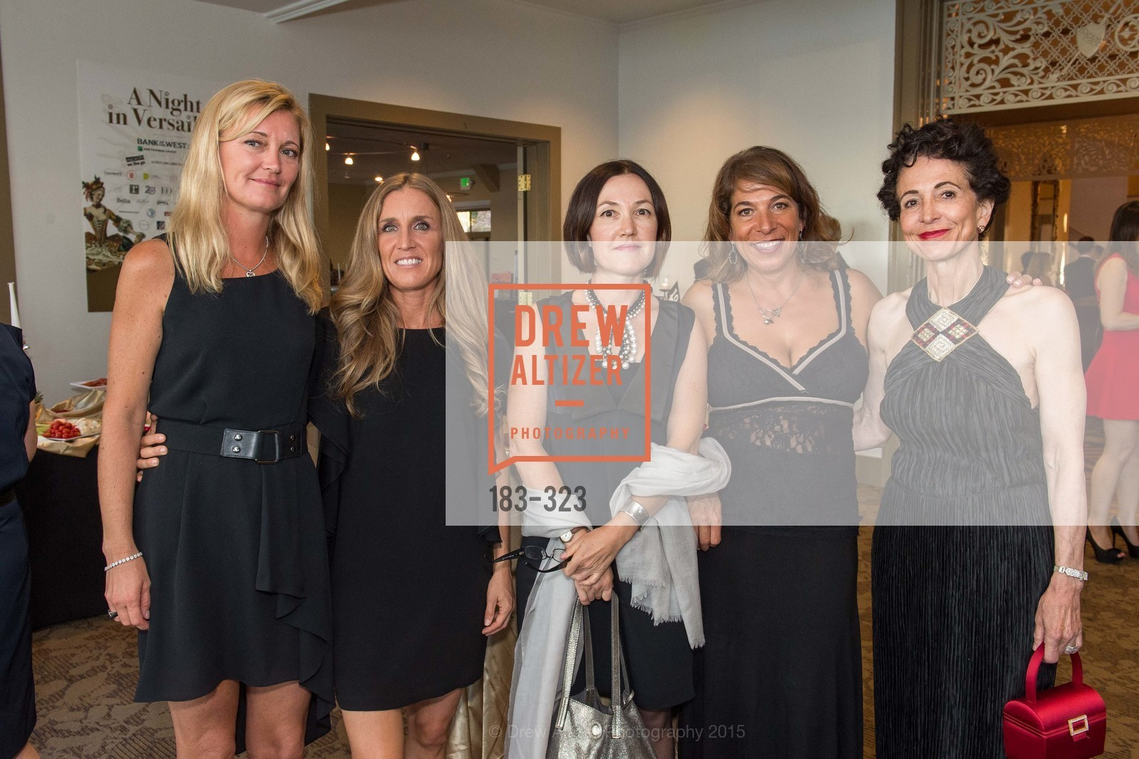 Sofia Andreoli, Delphine DePundt-Gildostath, Elmira Mazhmudimova, Giselle Sponholtz, Marissa McGinnis, A Night in Versailles, General's Residence. 1 Franklin St, September 25th, 2015,Drew Altizer, Drew Altizer Photography, full-service agency, private events, San Francisco photographer, photographer california