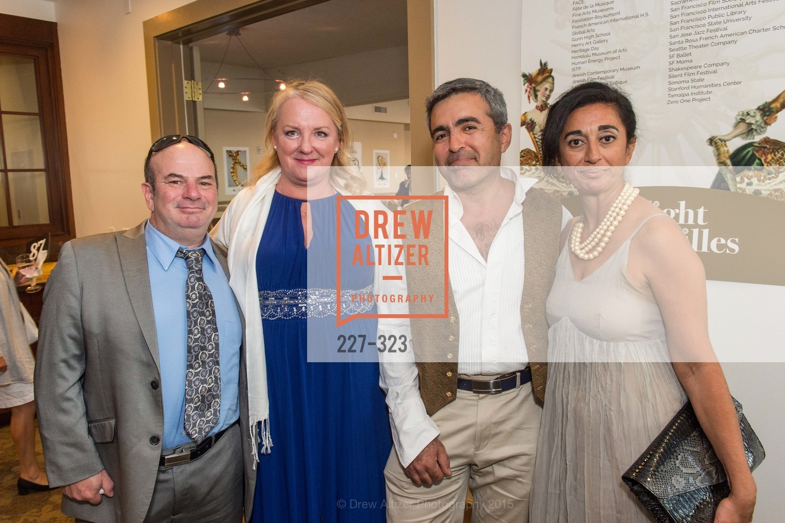 Paul Efron, Helene Efron, Nas Salamati, Najine Shariat, A Night in Versailles, General's Residence. 1 Franklin St, September 25th, 2015,Drew Altizer, Drew Altizer Photography, full-service agency, private events, San Francisco photographer, photographer california