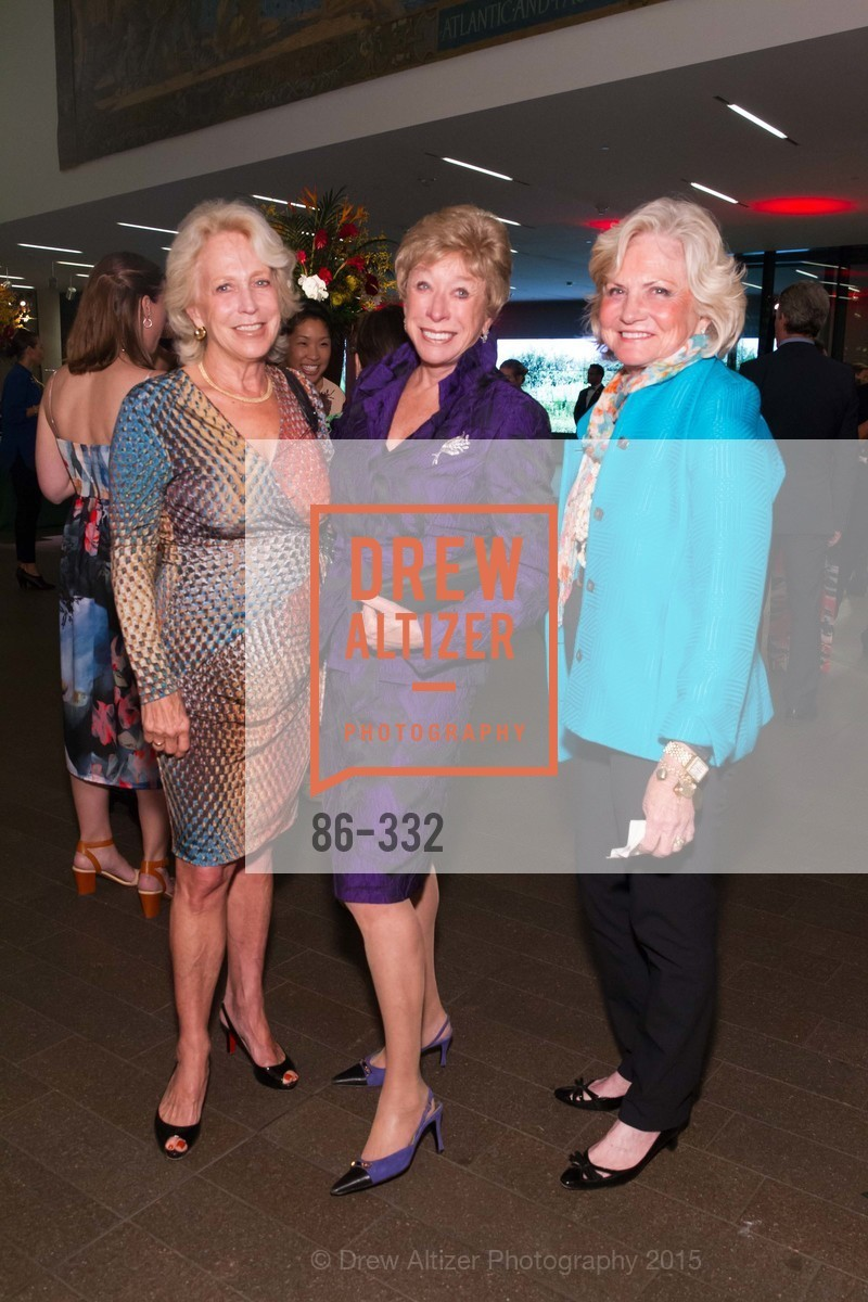 Margaret Denning, Maria Pitcairn, Kiki Pascatello, Royal Hawaiian Featherwork Donor Reception at de Young, de Young Museum, September 30th, 2015,Drew Altizer, Drew Altizer Photography, full-service agency, private events, San Francisco photographer, photographer california