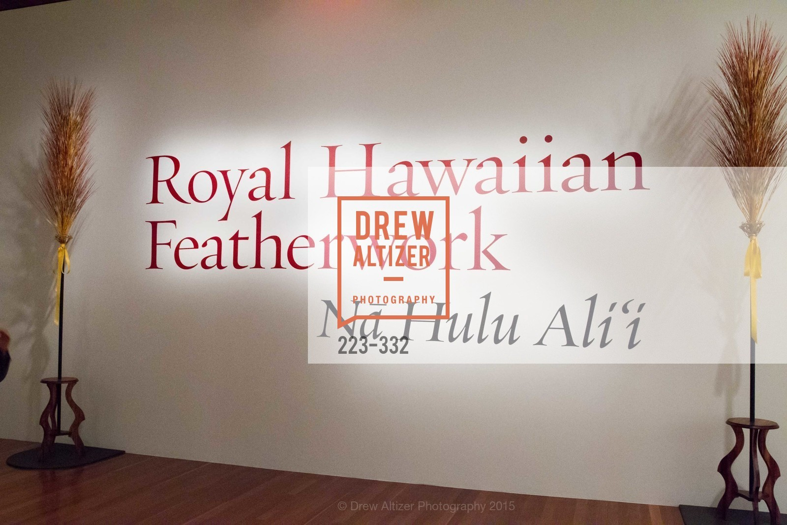 Atmosphere, Royal Hawaiian Featherwork Donor Reception at de Young, de Young Museum, September 30th, 2015,Drew Altizer, Drew Altizer Photography, full-service event agency, private events, San Francisco photographer, photographer California