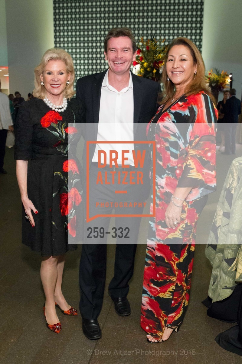 Dede Wilsey, Blair Collis, Allison Holt Gendreau, Royal Hawaiian Featherwork Donor Reception at de Young, de Young Museum, September 30th, 2015,Drew Altizer, Drew Altizer Photography, full-service agency, private events, San Francisco photographer, photographer california