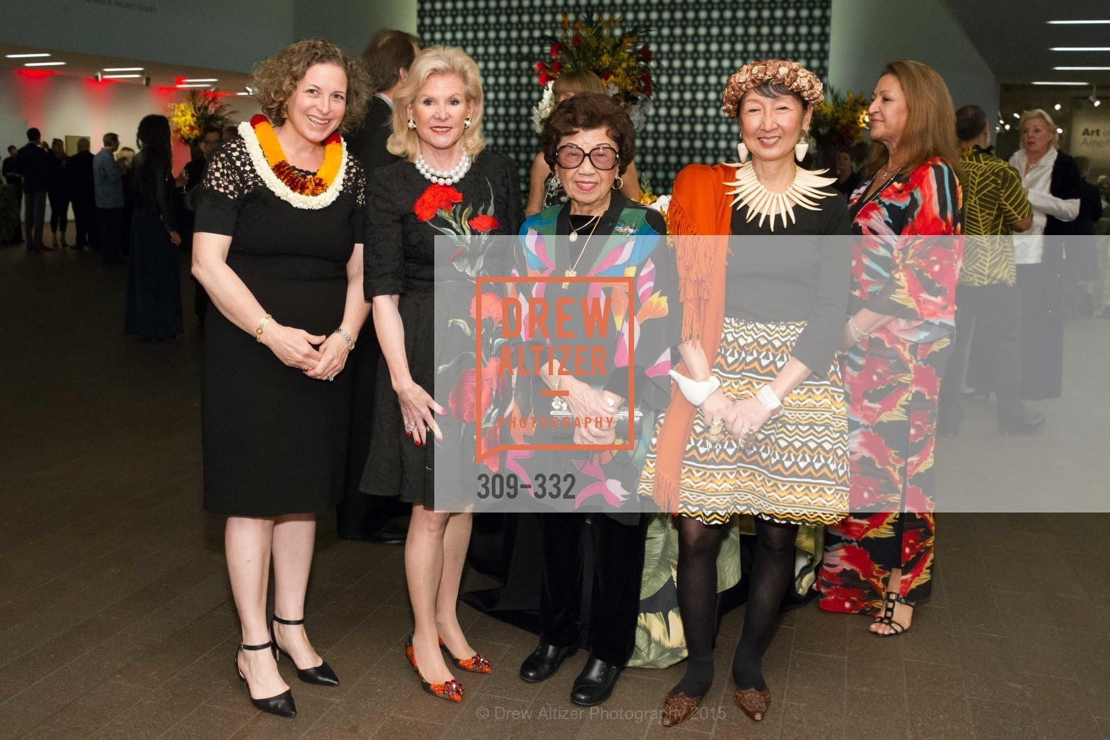 Christina Helmeck, Dede Wilsey, Lin Chen Willis, Blossom Strong, Royal Hawaiian Featherwork Donor Reception at de Young, de Young Museum, September 30th, 2015,Drew Altizer, Drew Altizer Photography, full-service agency, private events, San Francisco photographer, photographer california