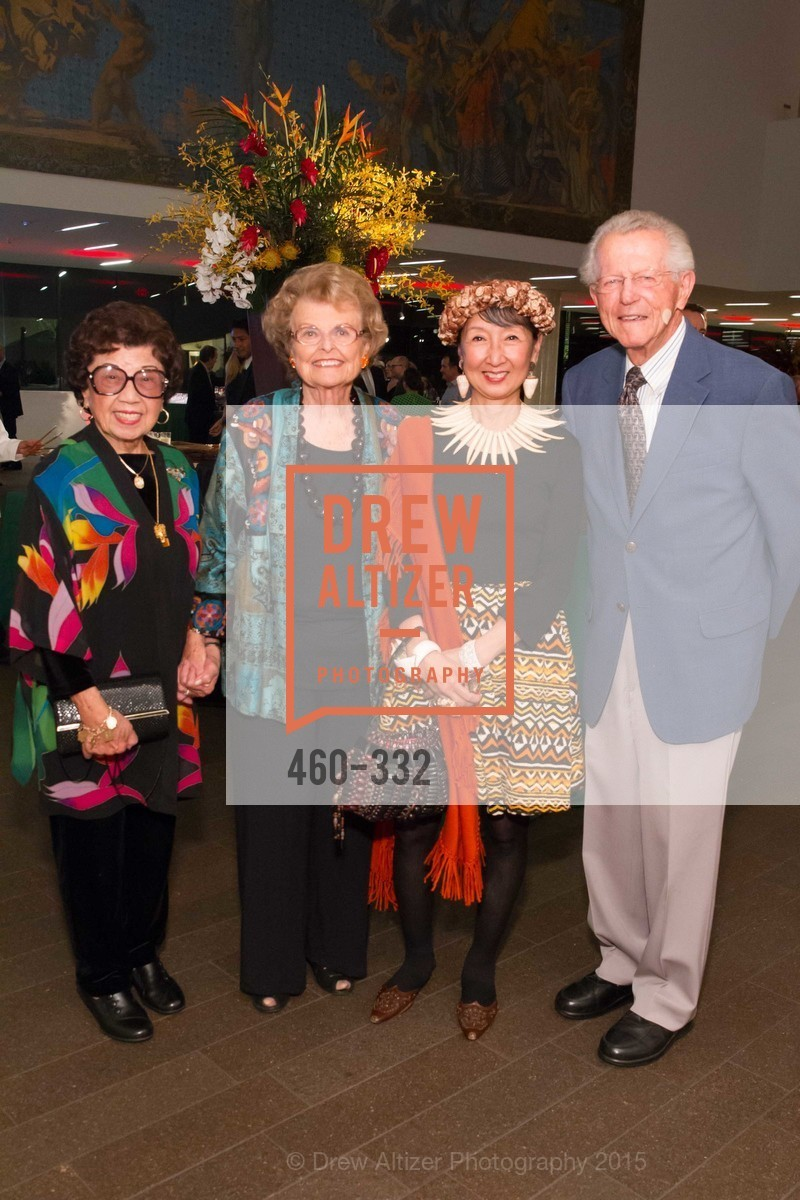 Lin Chen Willis, Colleen Silcox, Blossom Strong, John Silcox, Royal Hawaiian Featherwork Donor Reception at de Young, de Young Museum, September 30th, 2015,Drew Altizer, Drew Altizer Photography, full-service agency, private events, San Francisco photographer, photographer california