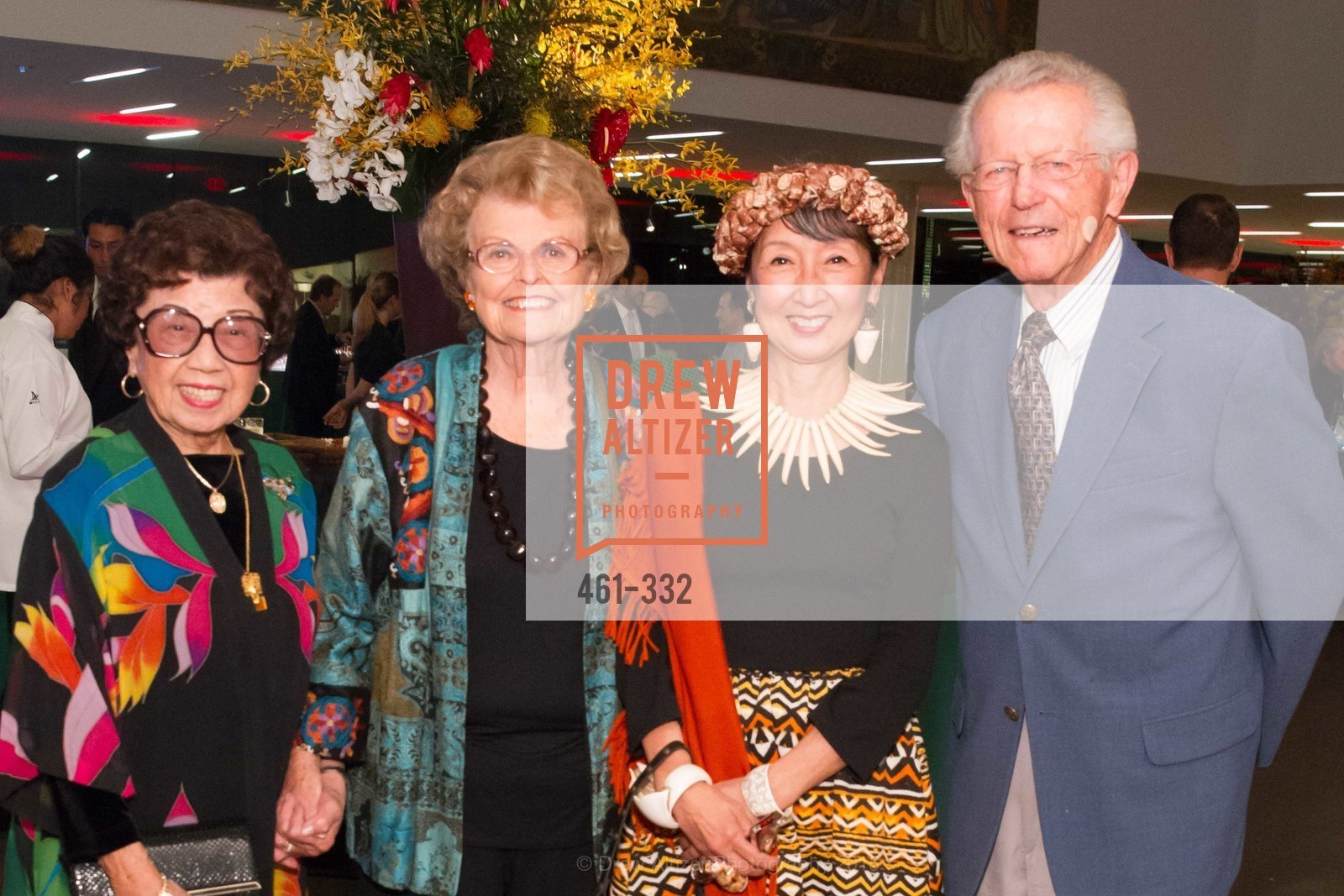 Lin Chen Willis, Colleen Silcox, Blossom Strong, John Silcox, Royal Hawaiian Featherwork Donor Reception at de Young, de Young Museum, September 30th, 2015,Drew Altizer, Drew Altizer Photography, full-service event agency, private events, San Francisco photographer, photographer California