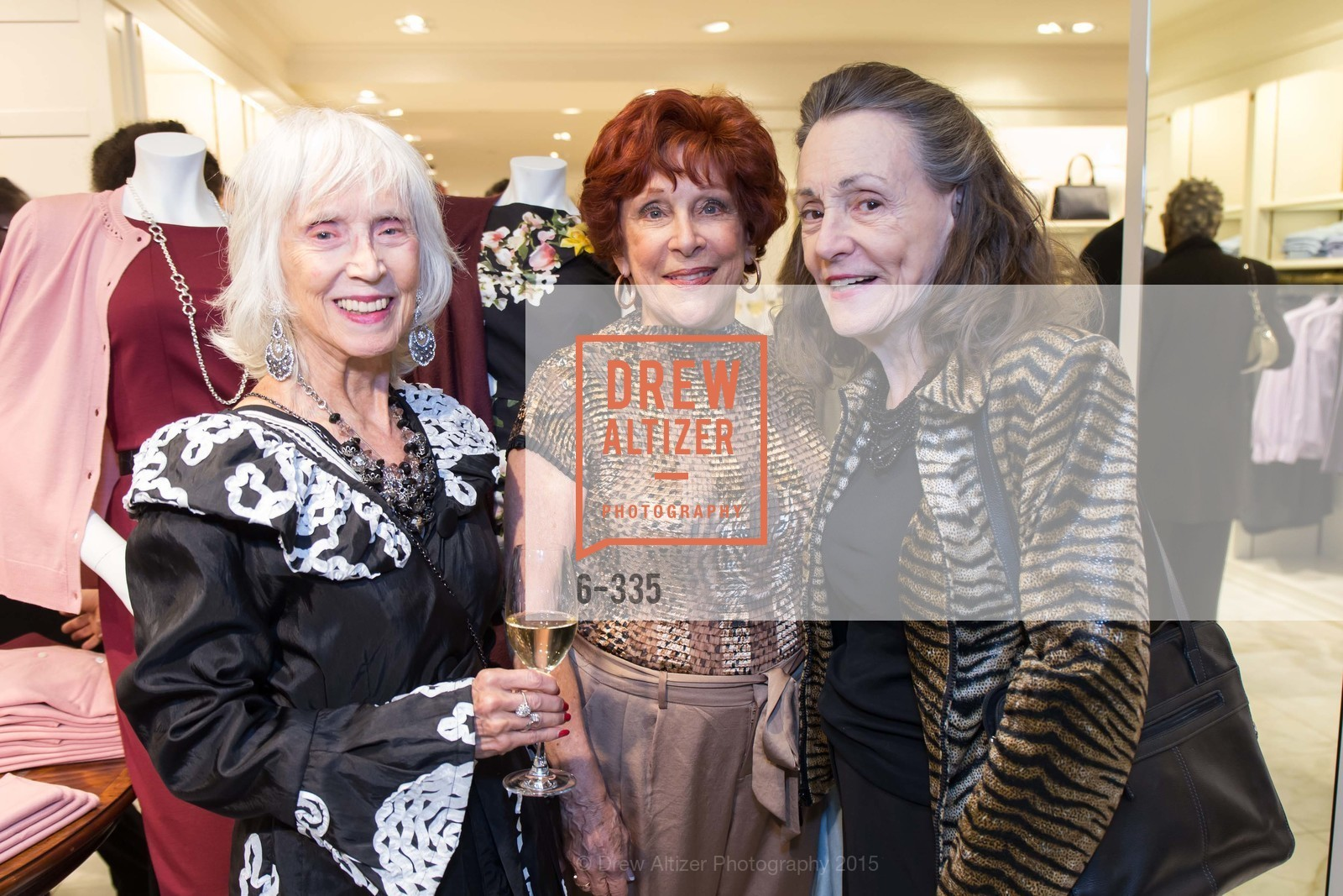 Dixie Lee May, Liz Shaw, Doris Tumey, Launch Party for The San Francisco Fall Antiques Show, Brooks Brothers. 240 Post St, October 1st, 2015,Drew Altizer, Drew Altizer Photography, full-service agency, private events, San Francisco photographer, photographer california