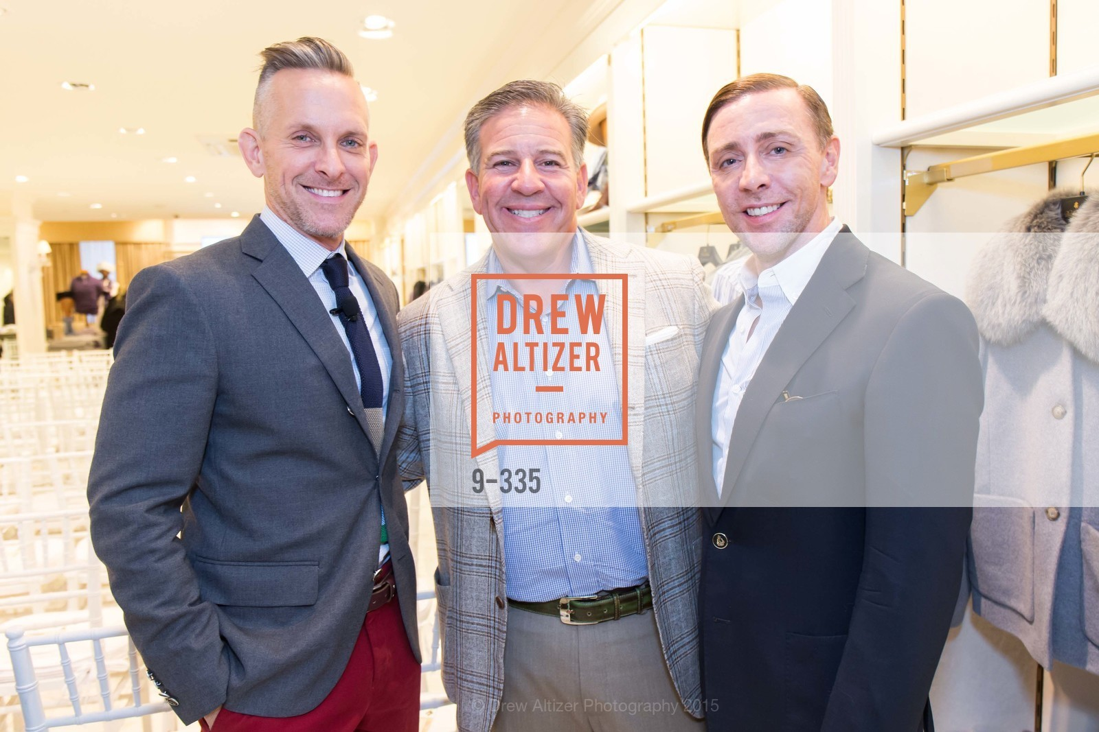 Jay Jeffers, Greg Lynn, Mark Rhoades, Launch Party for The San Francisco Fall Antiques Show, Brooks Brothers. 240 Post St, October 1st, 2015,Drew Altizer, Drew Altizer Photography, full-service agency, private events, San Francisco photographer, photographer california
